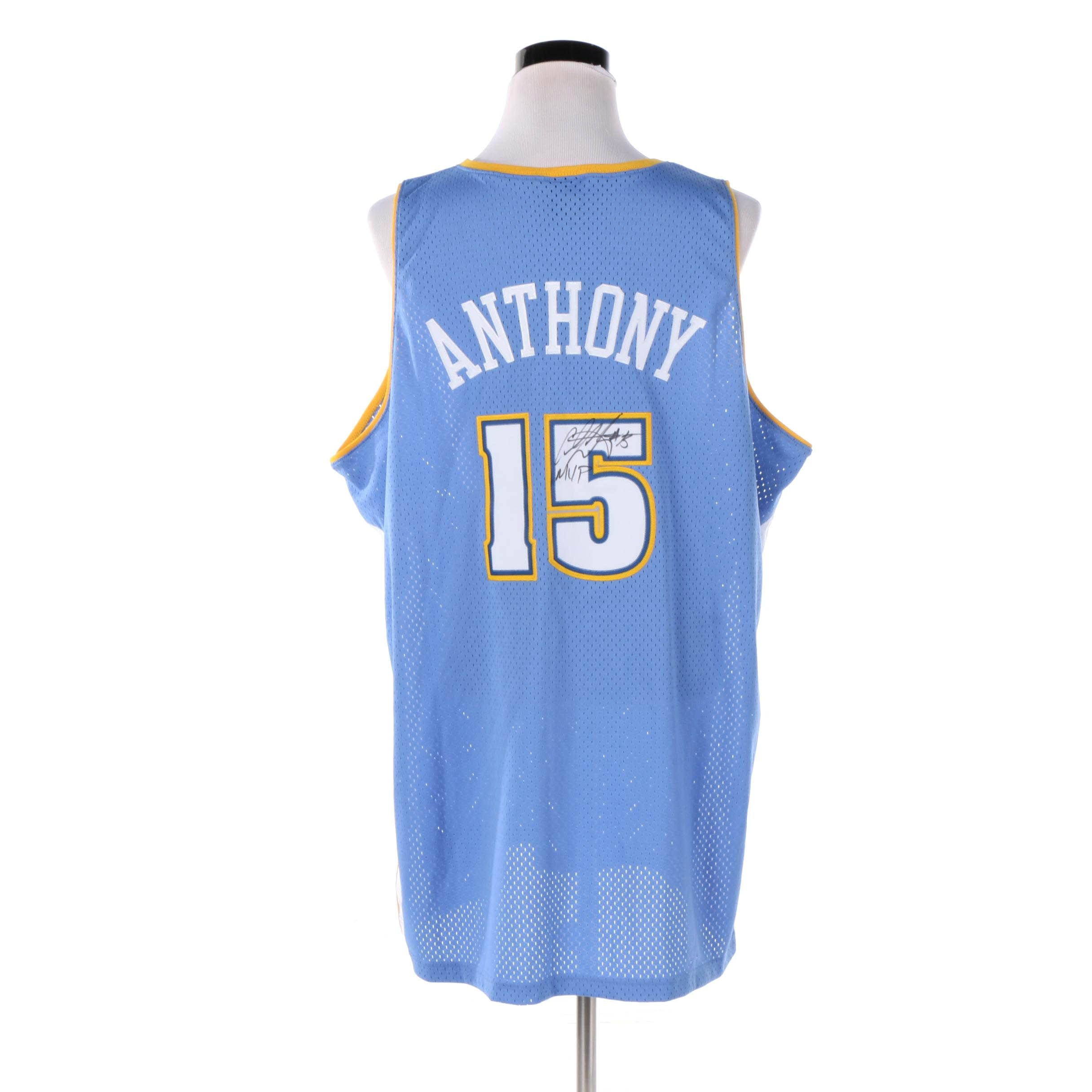 Denver Golden Nuggets Jersey Signed by Carmelo Anthony