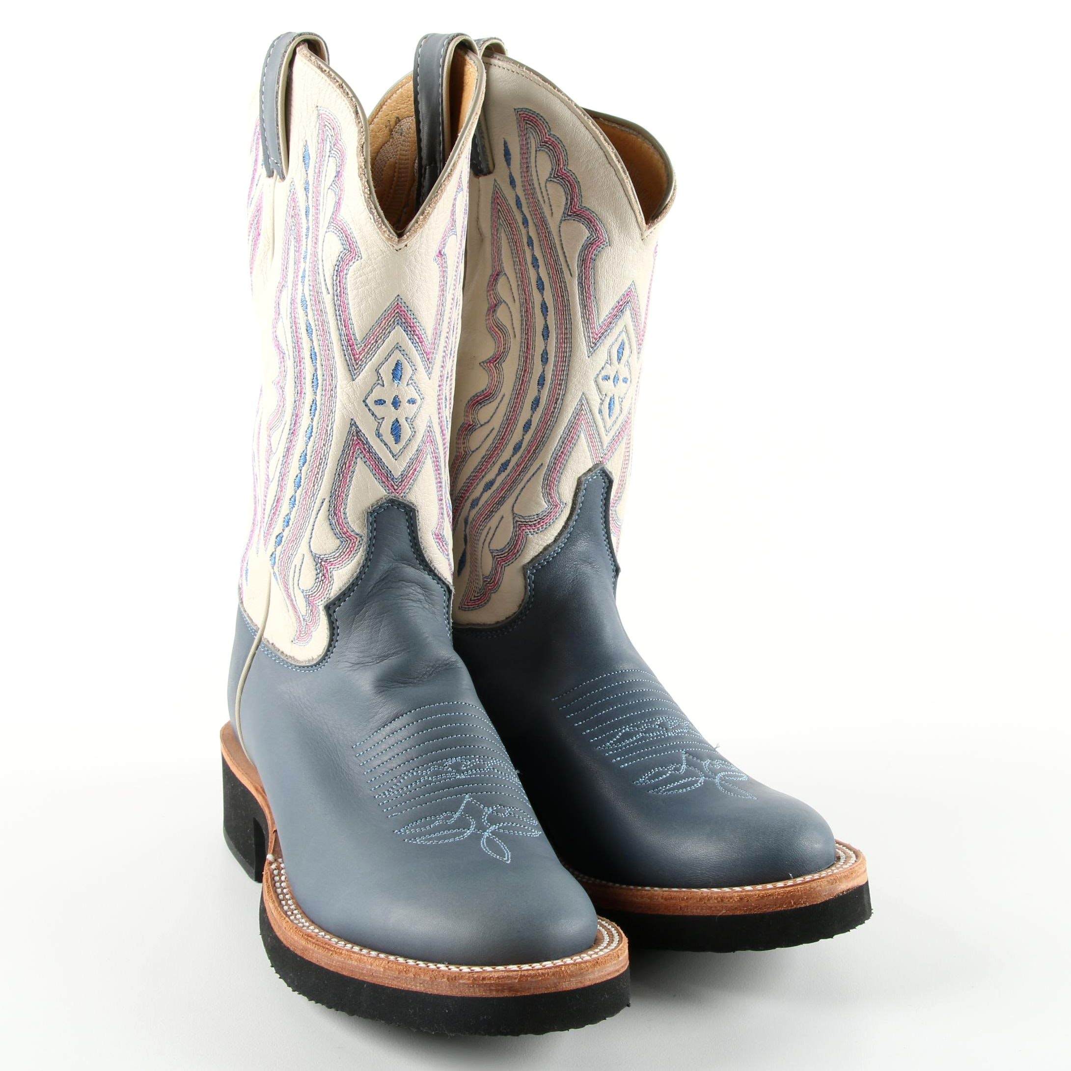 Women's Justin Leather Cowgirl Boots