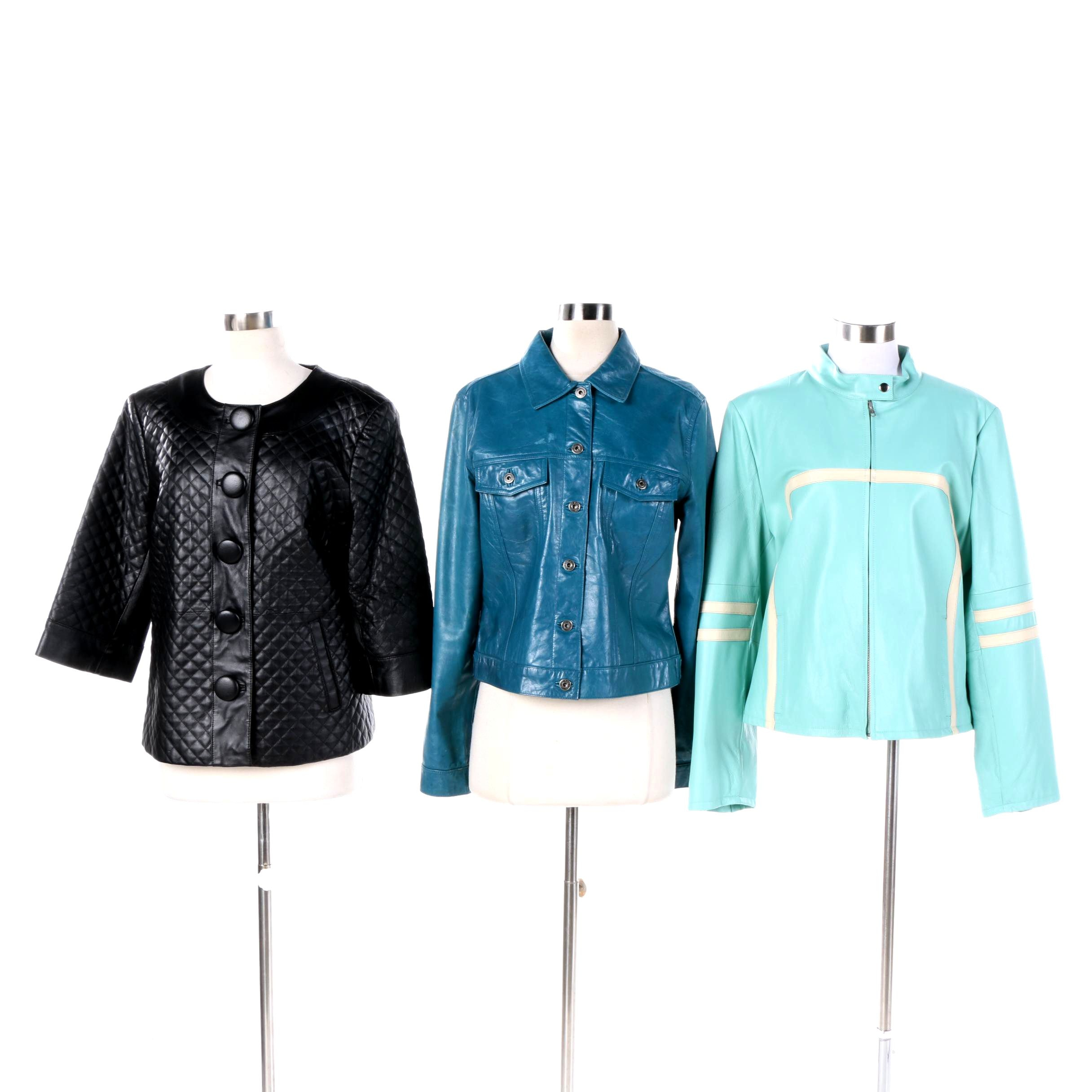 Women's Leather Jackets Including Gap, Terry Lewis, and Wilsons Leather