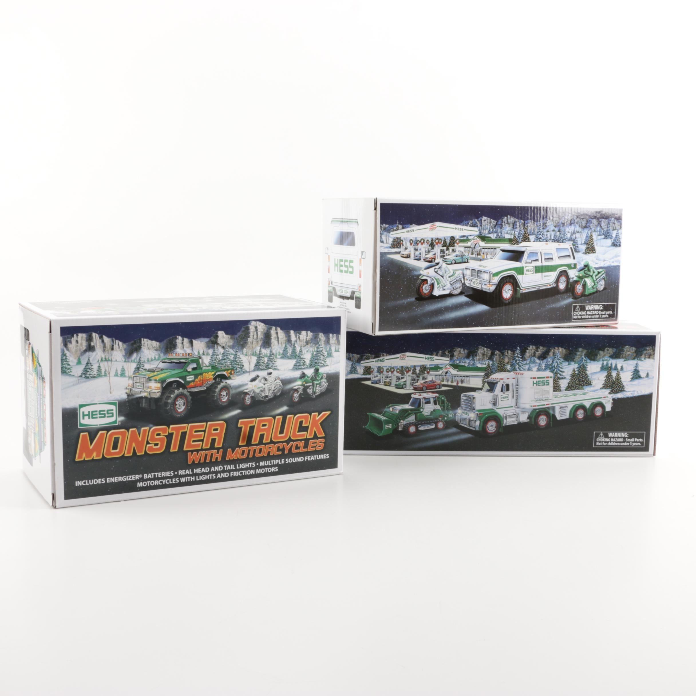 Three Hess Trucks