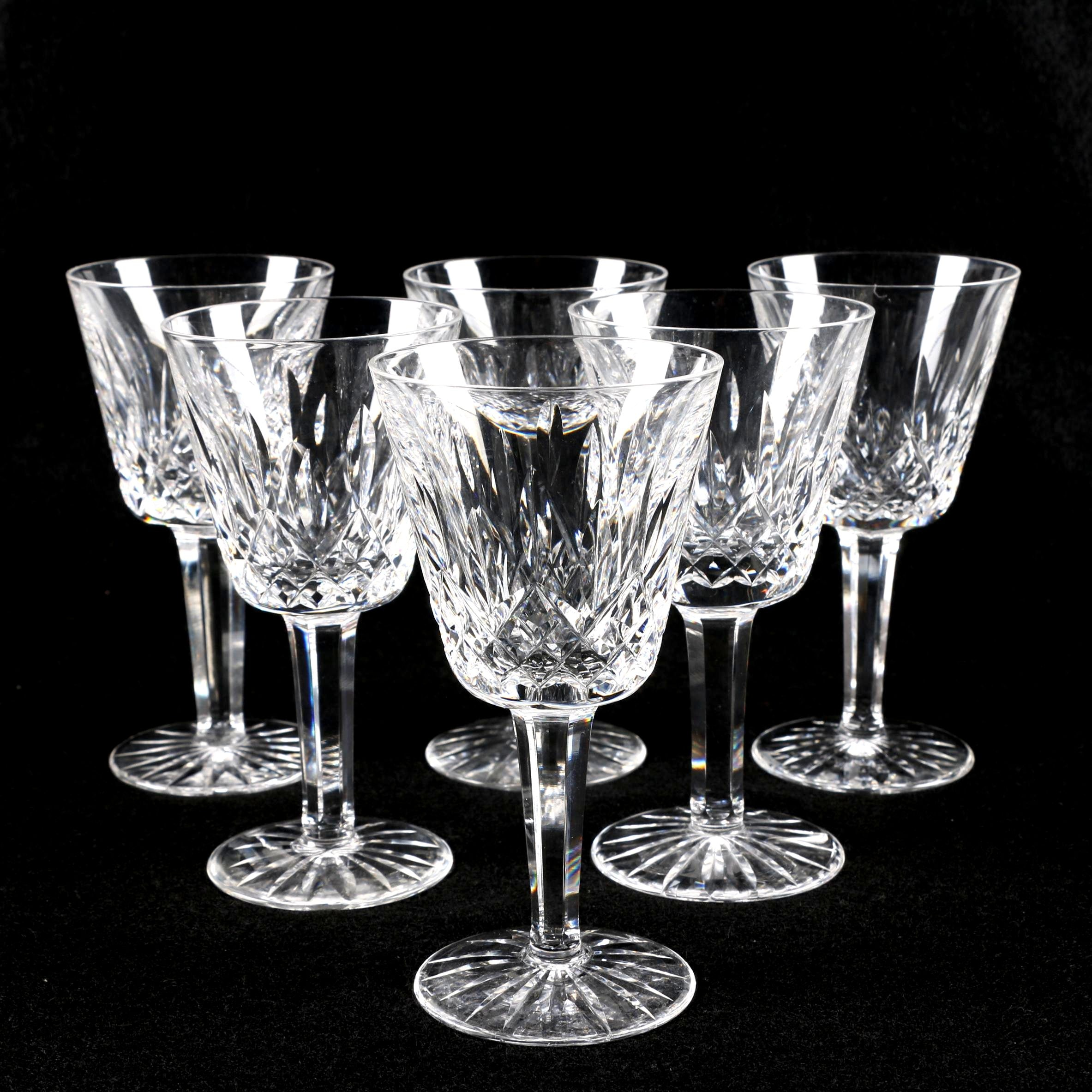 "Waterford Crystal ""Lismore"" Stemware"