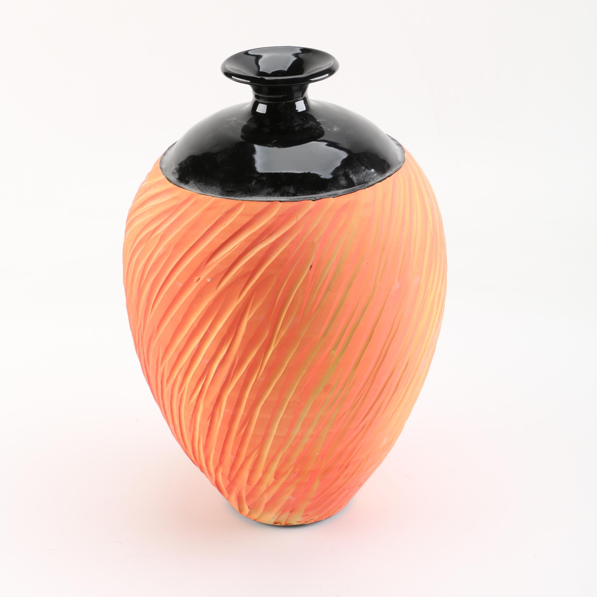 Chris Linske Wheel Thrown Porcelain Vase