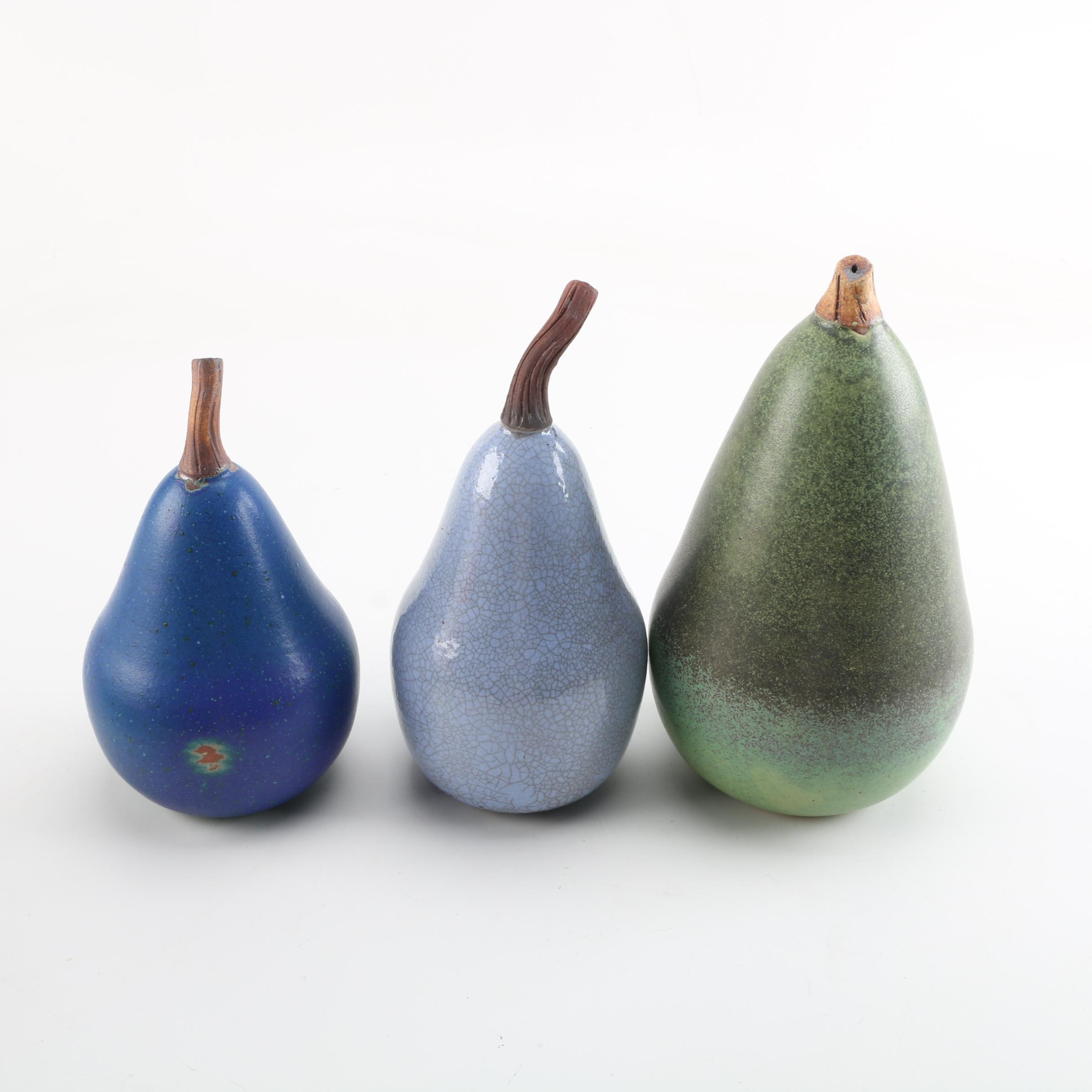 Indiana Artisan Signed Art Pottery Pears