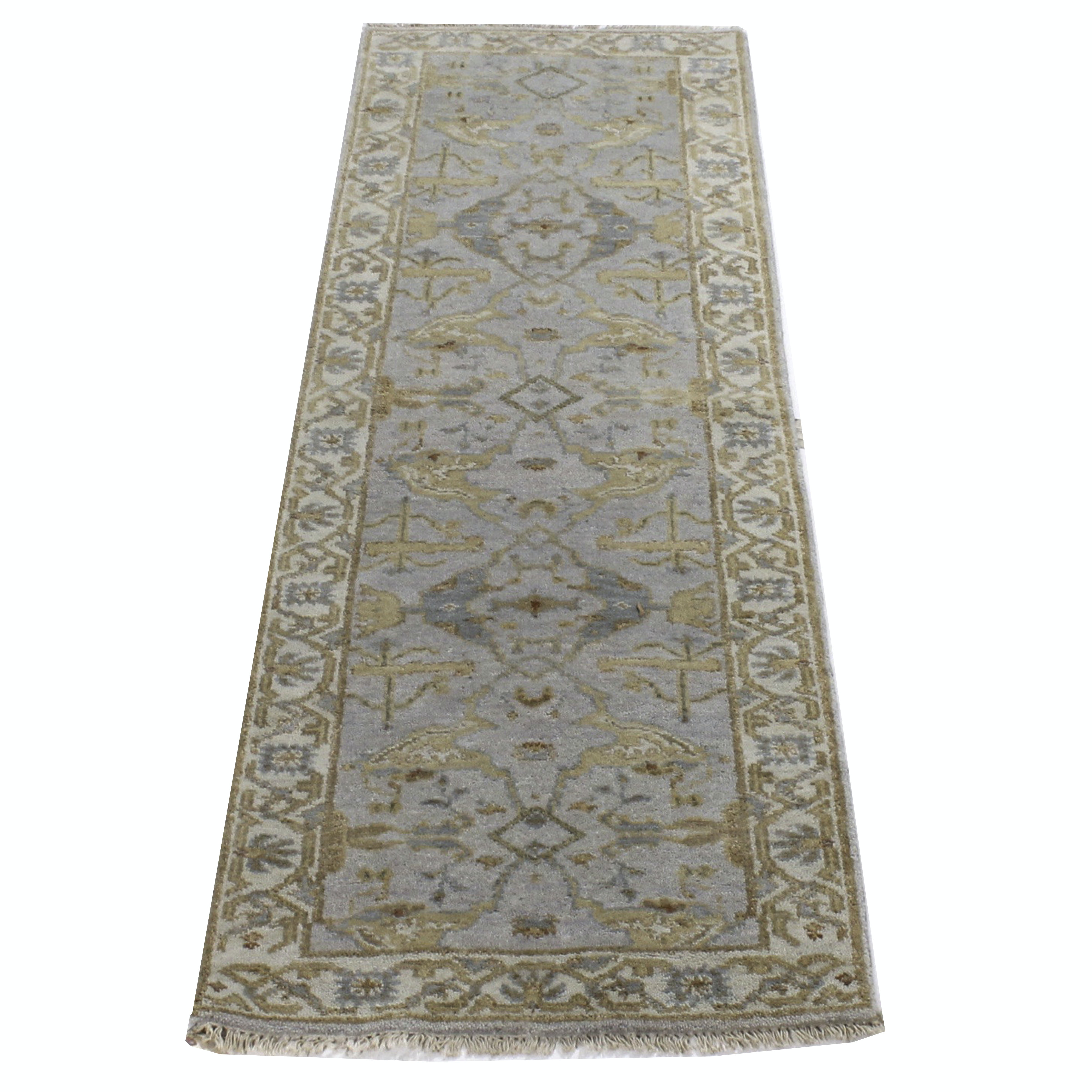 3' x 8' Hand-Knotted Indo-Turkish Oushak Chobi Runner