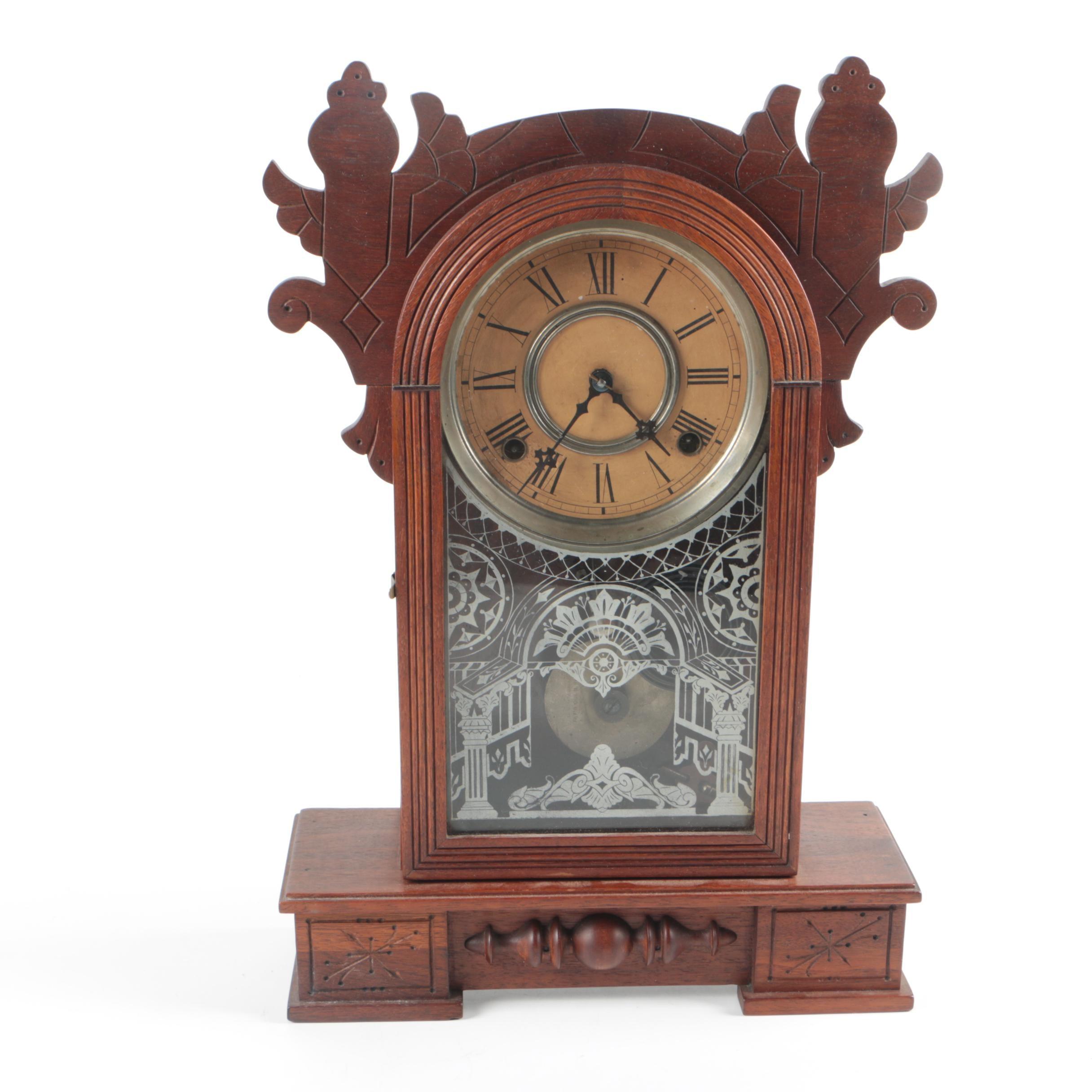 "Antique Wm. Gilbert ""Dio""  Victorian Parlor Mantel Clock"