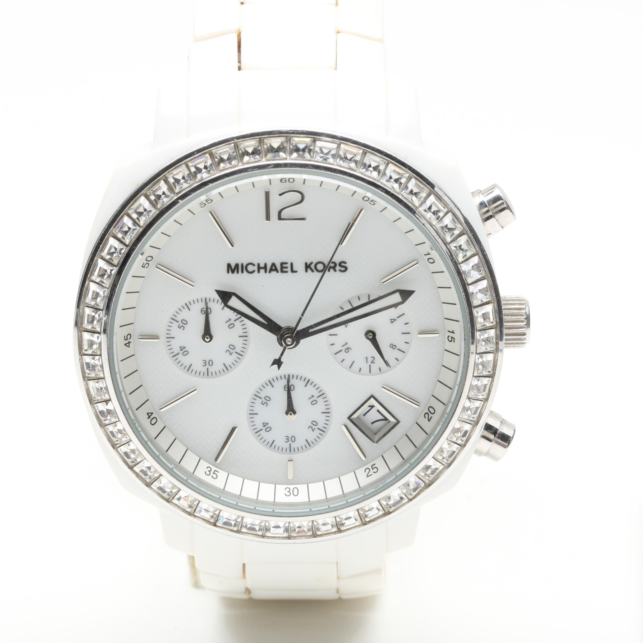 Michael Kors Stainless Steel and Resin Wristwatch