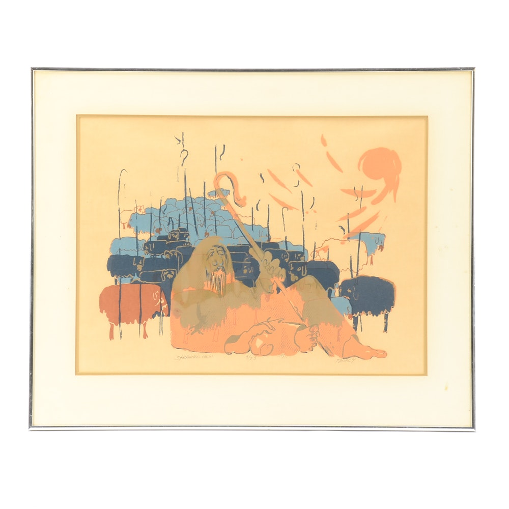 "Healy Limited Edition Serigraph ""Shepherd Var III"""