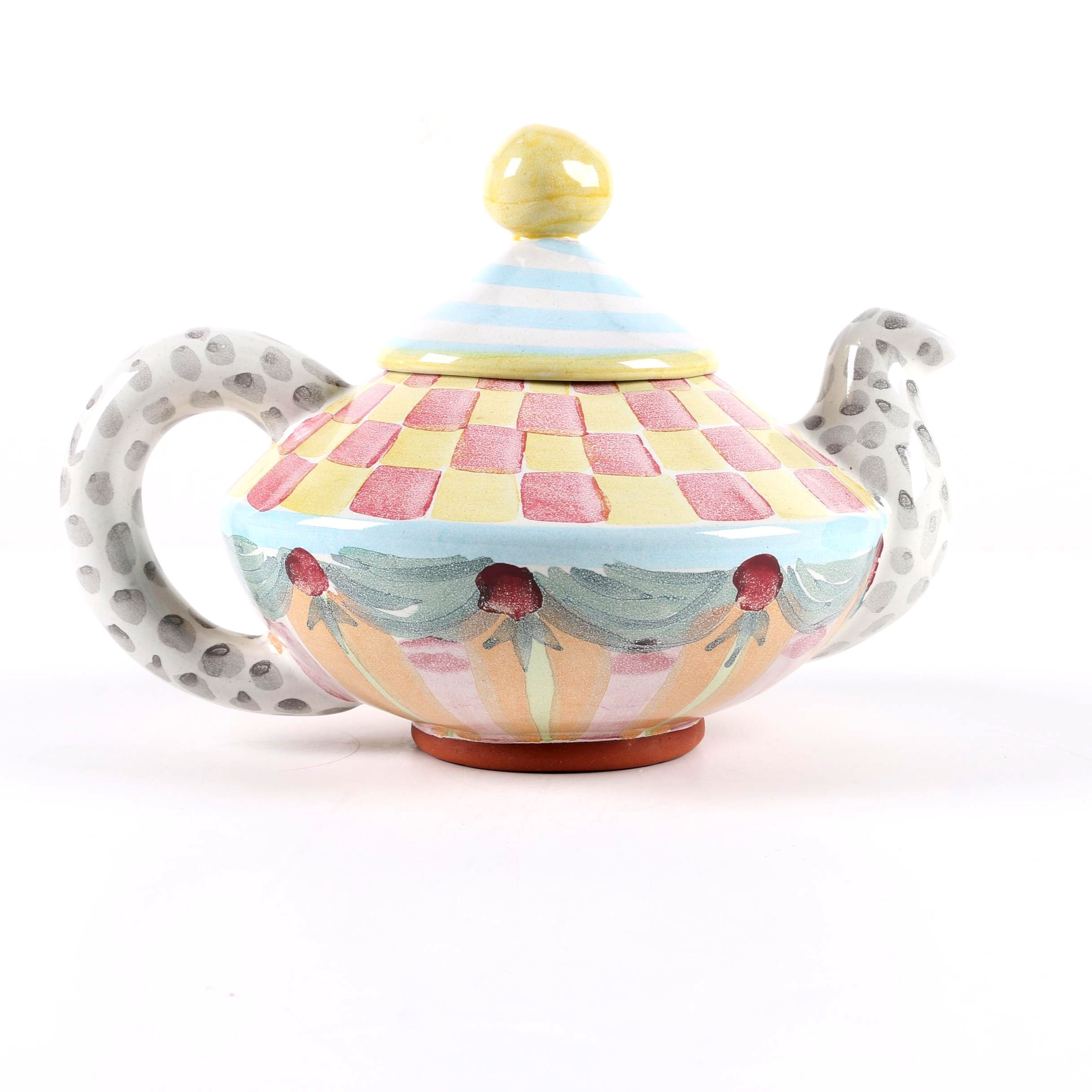 "MacKenzie-Childs ""Aurora"" Ceramic Teapot"