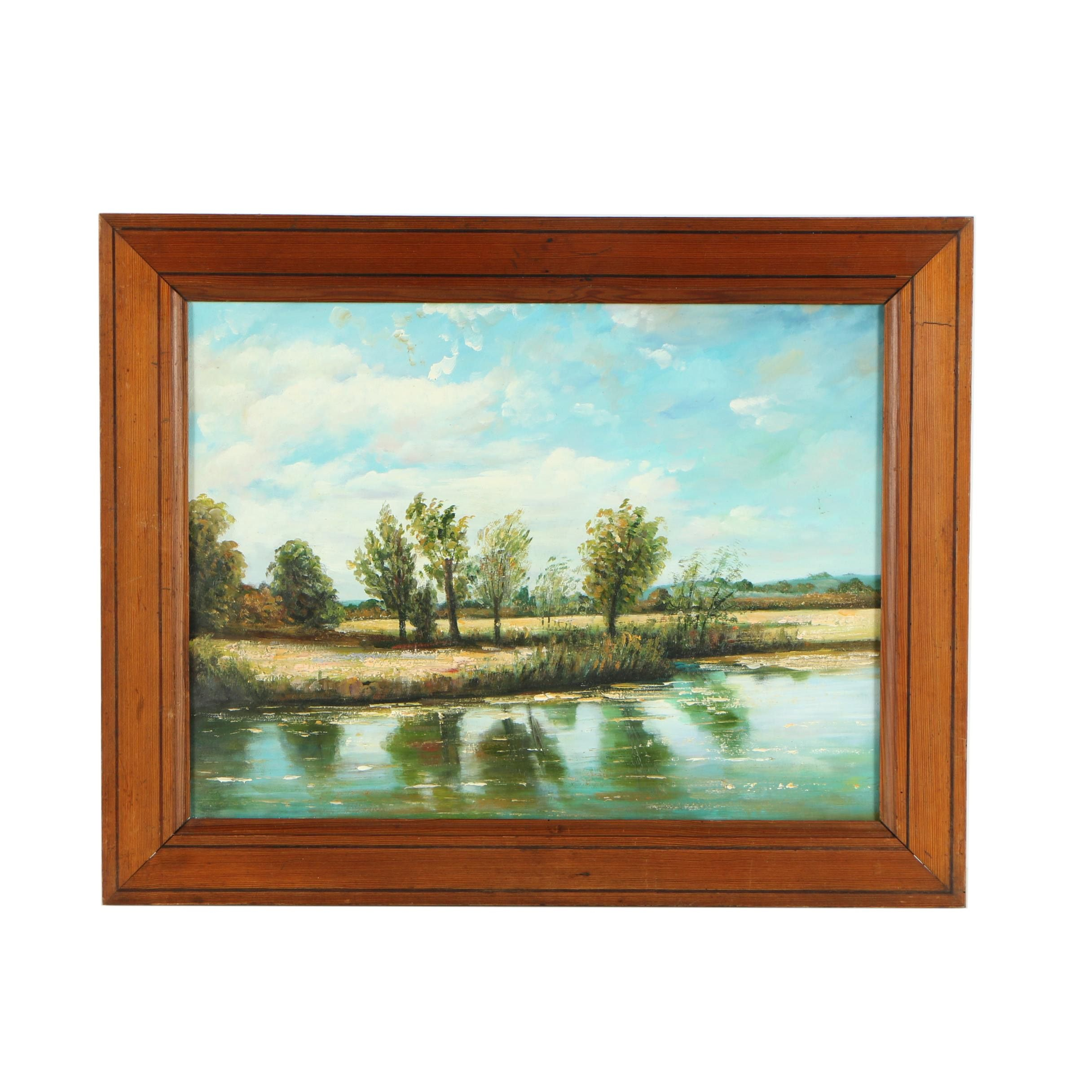 Oil Painting of a Landscape