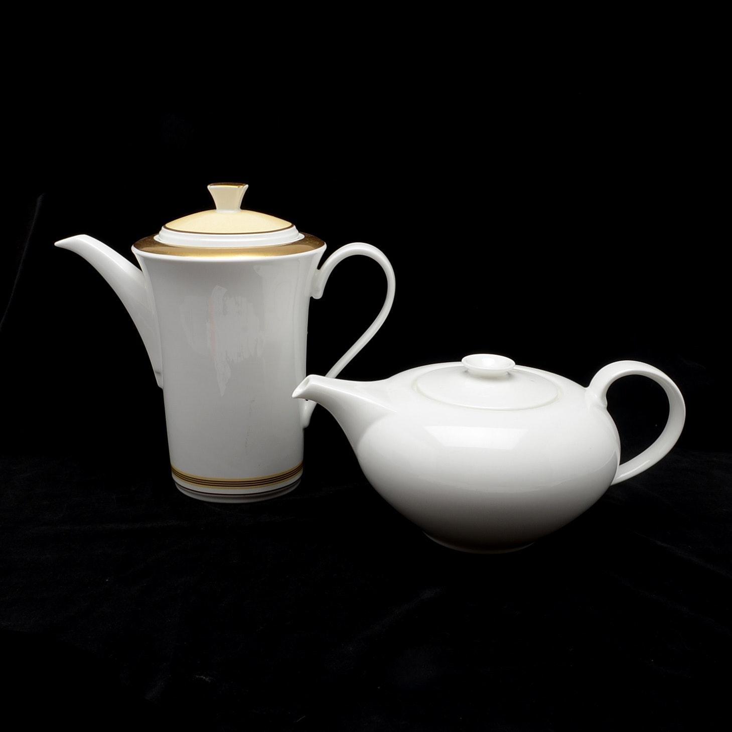 Pair of Mid Century Modern Style Teapots
