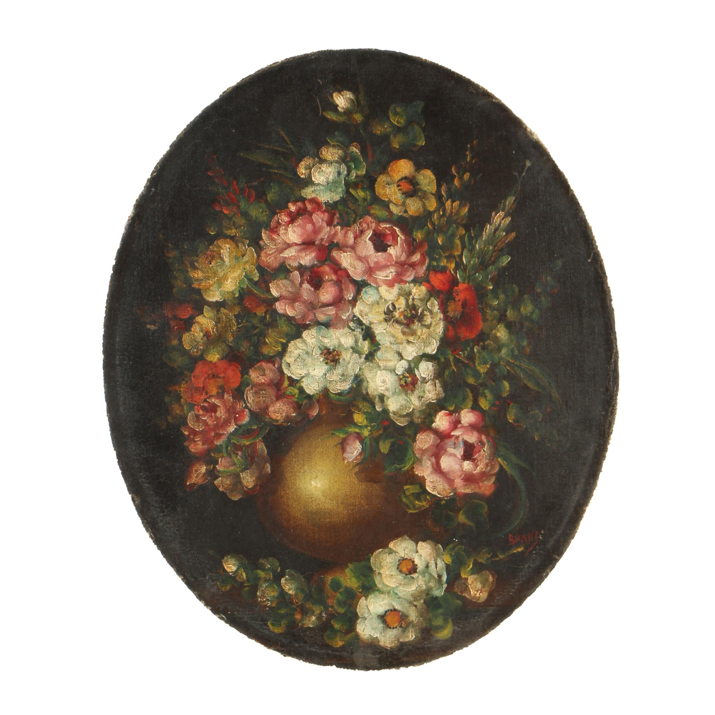 Vintage Oil Painting of Flowers