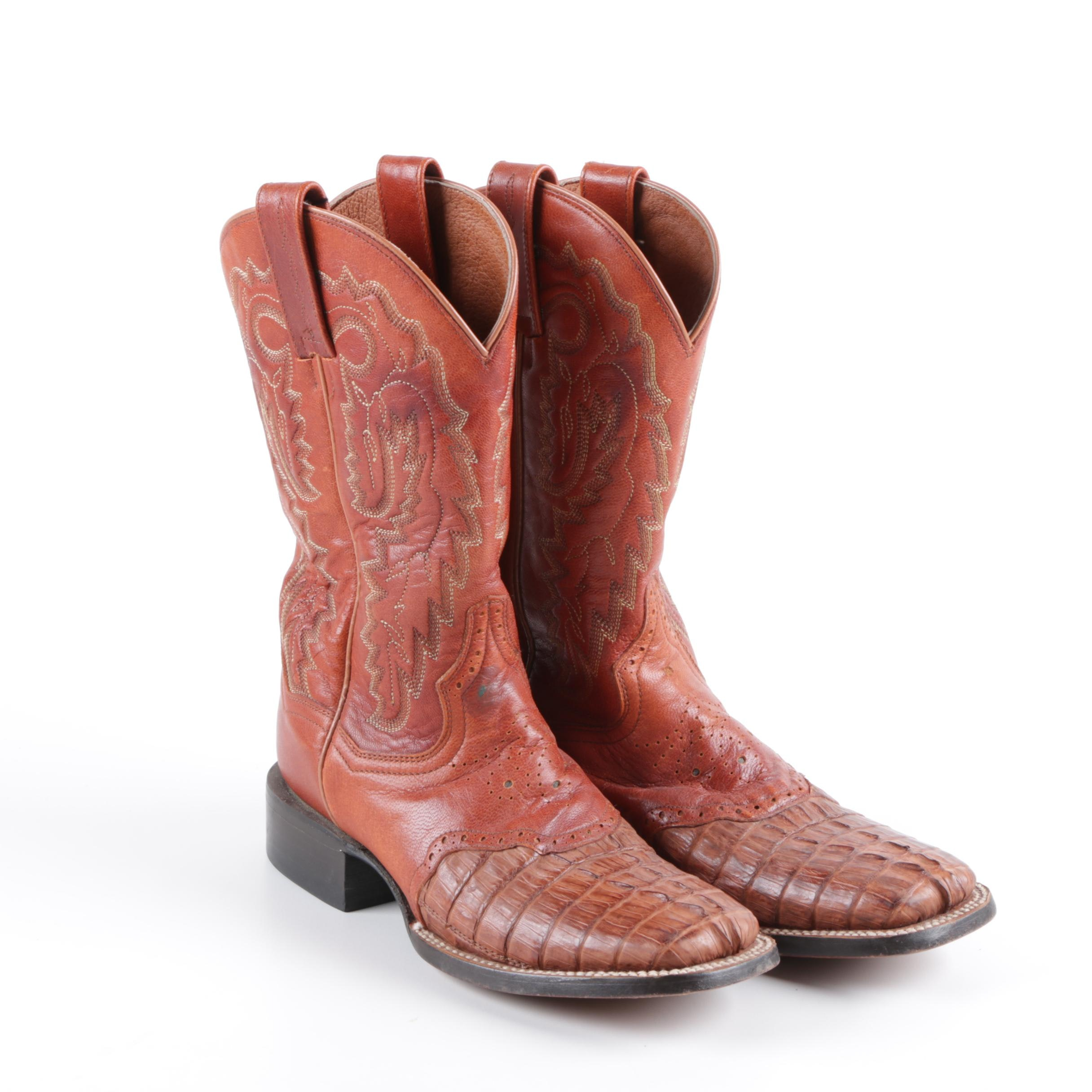 Women's Dan Post Brown Leather Cowgirl Boots