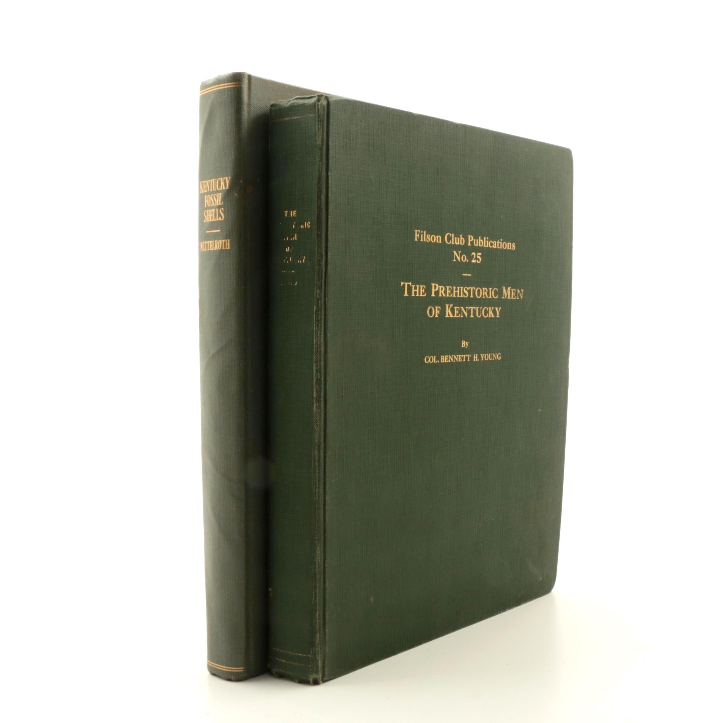 "1889 ""Kentucky Fossil Shells"" and 1910 ""The Prehistoric Men of Kentucky"""