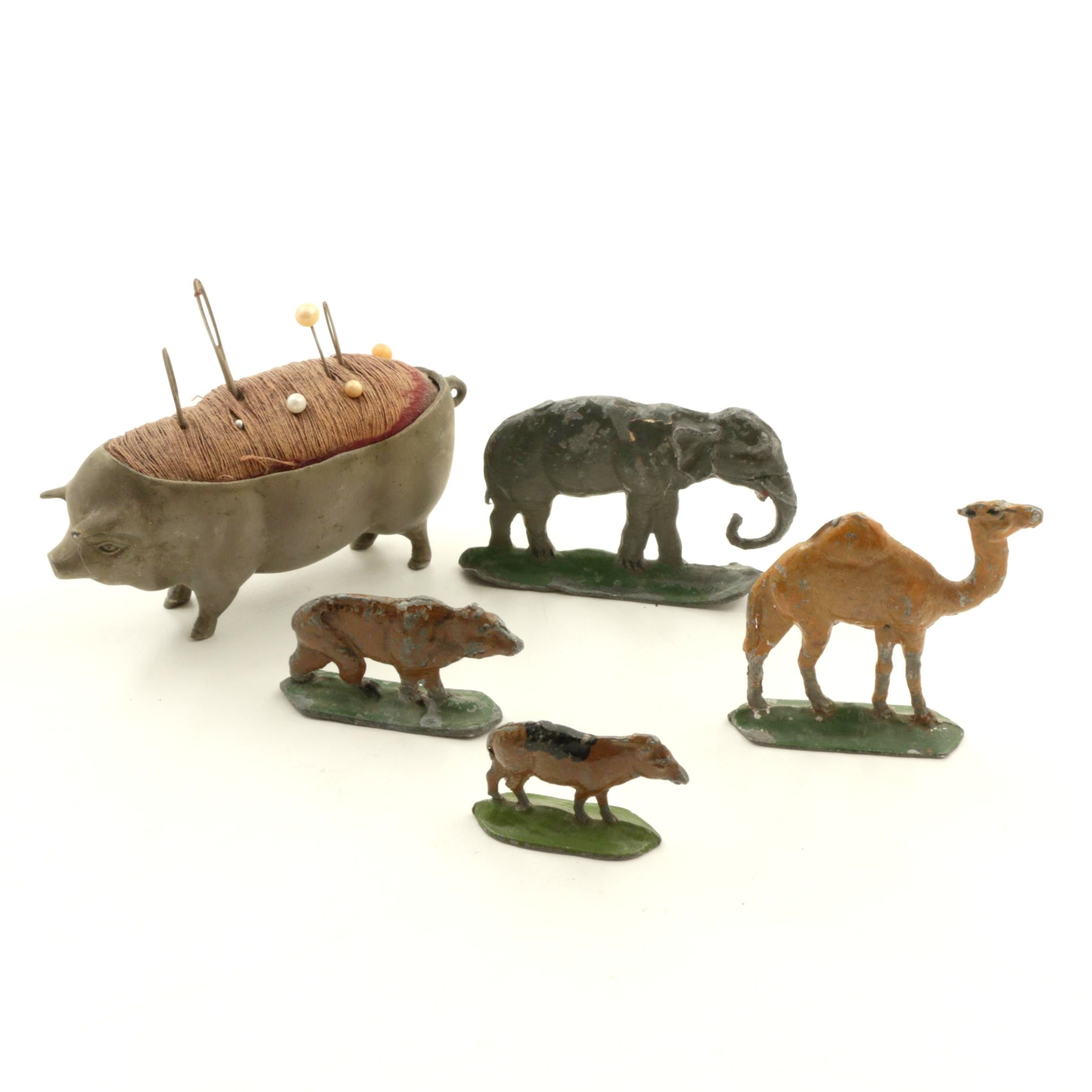 Five Cast Iron Animals