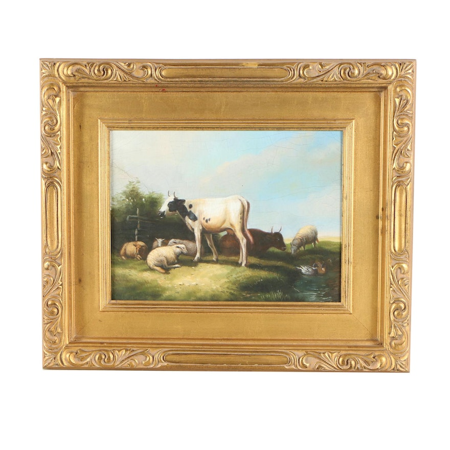 Oil Painting of Livestock
