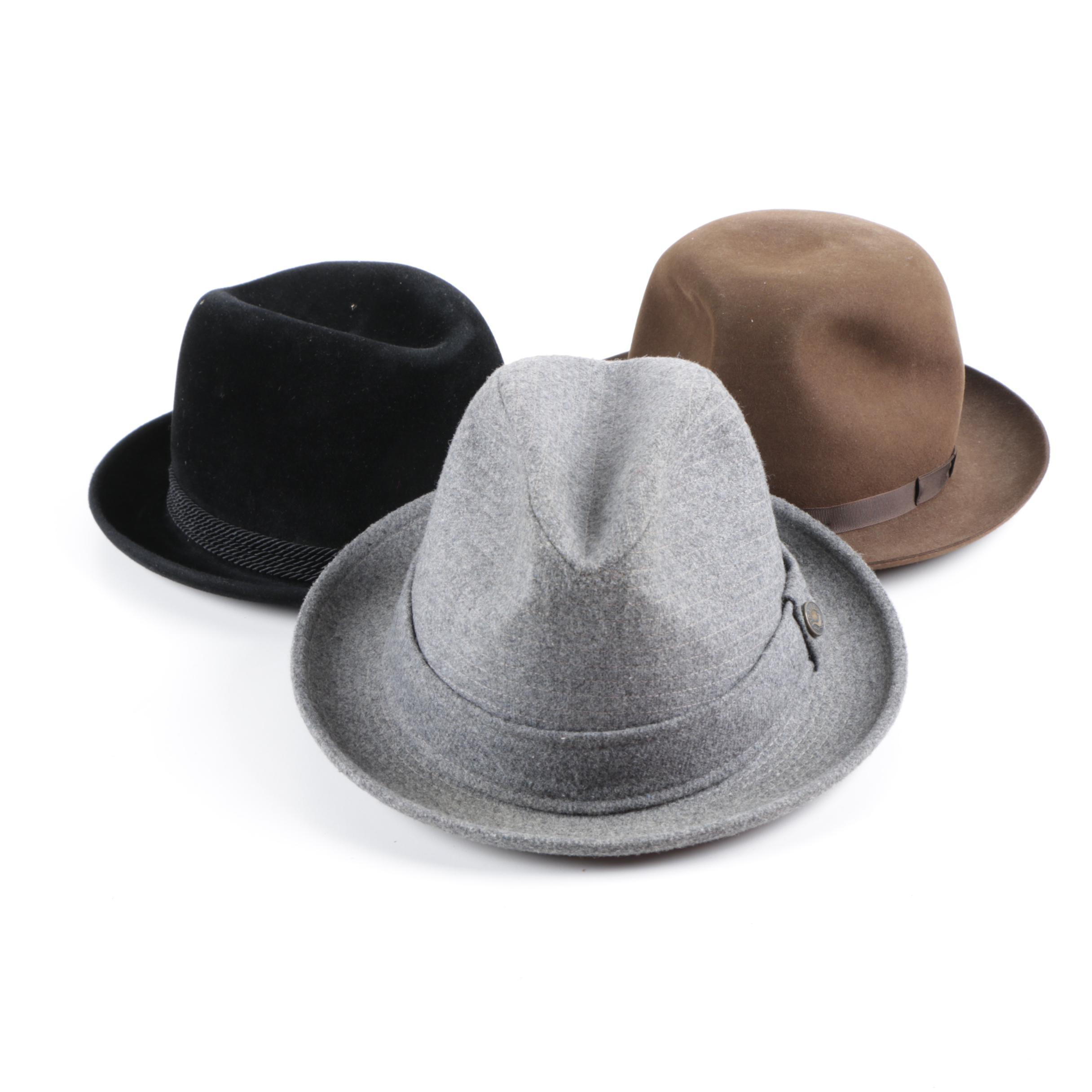 Vintage Fedora Hats Featuring Brooks Brothers