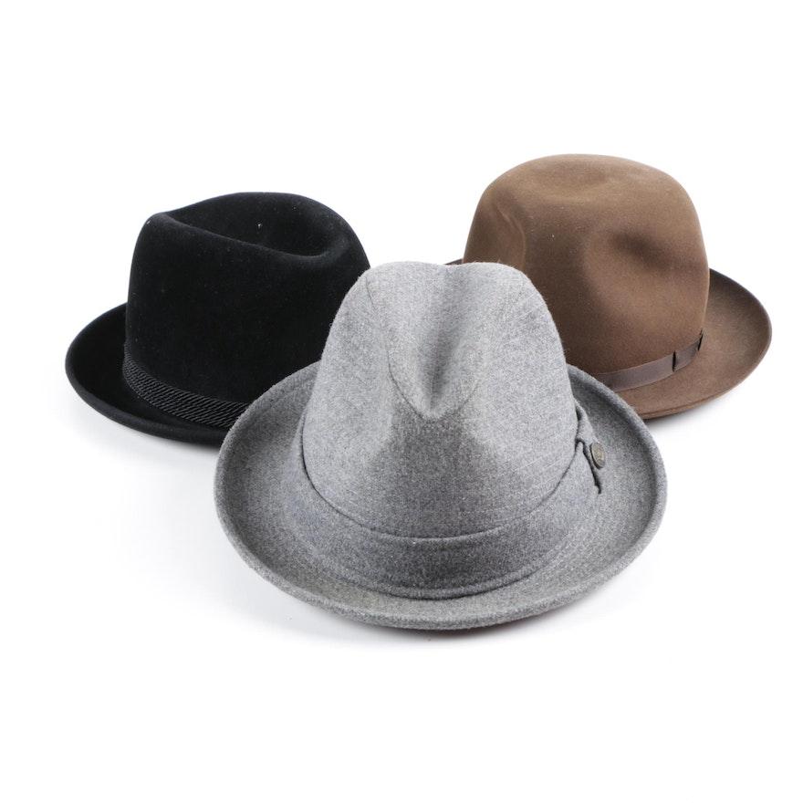 79cf5f51adf1d Vintage Fedora Hats Featuring Brooks Brothers   EBTH
