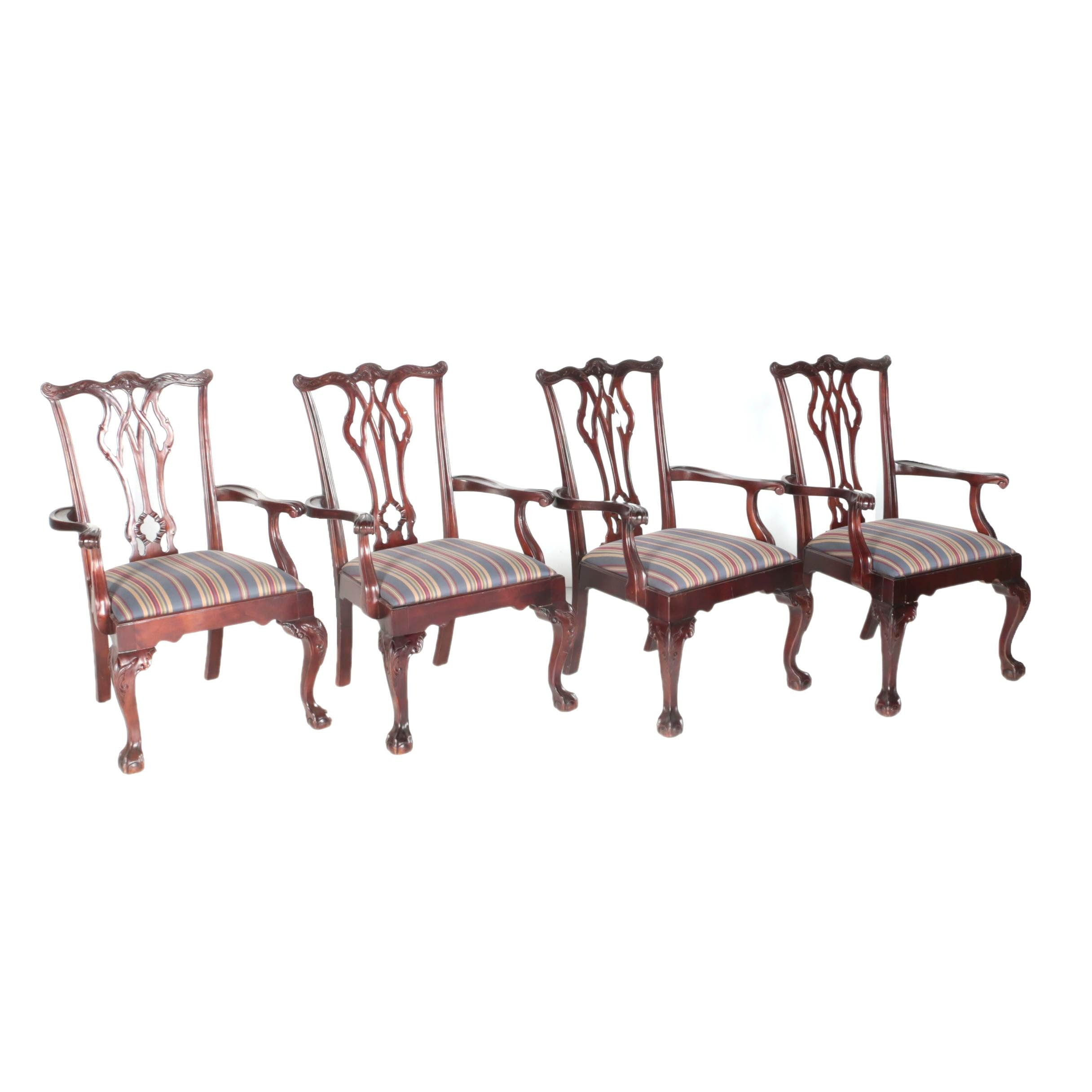 Chippendale Style Armchairs by Century Furniture