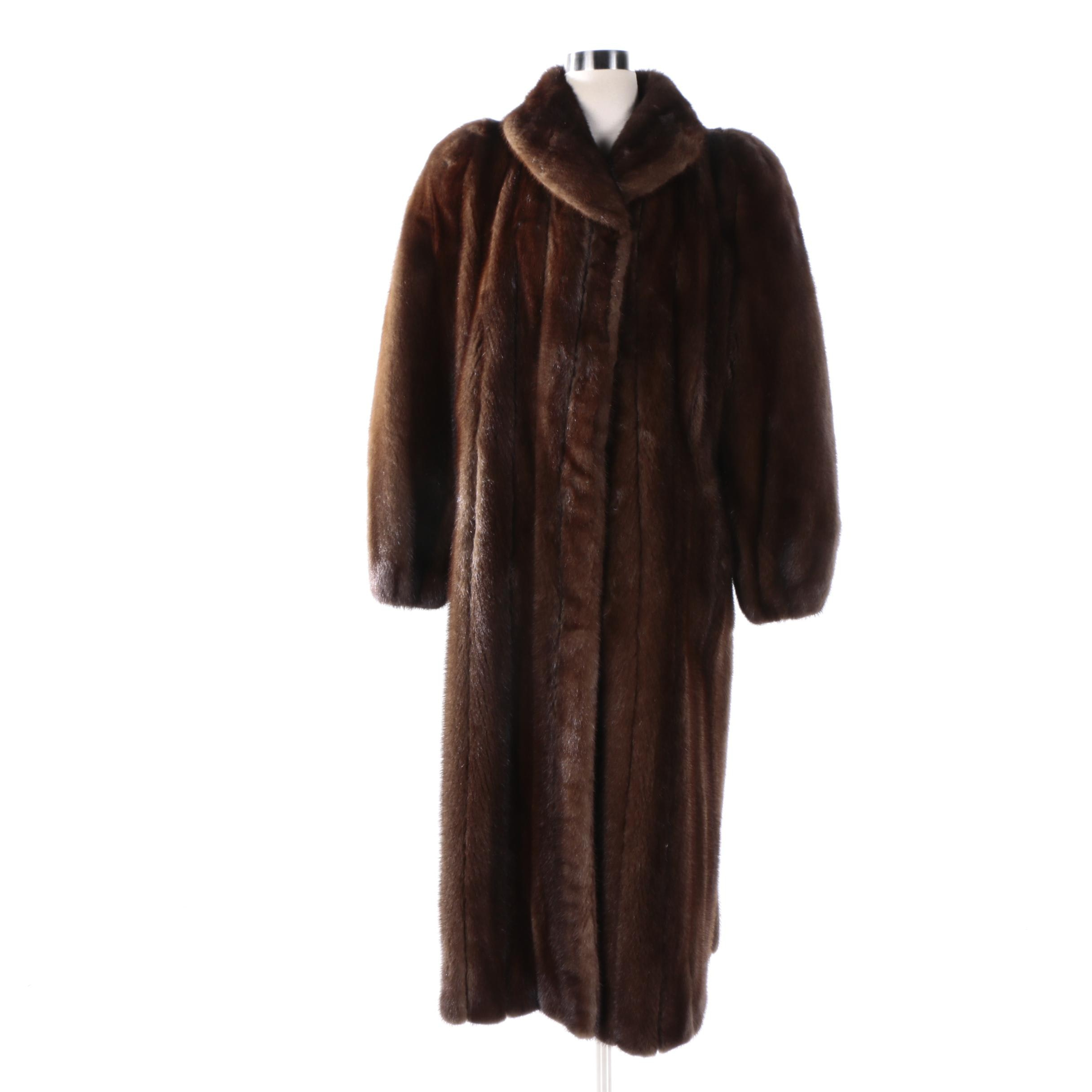 Women's Peter Duffy New York Brown Mink Fur Coat