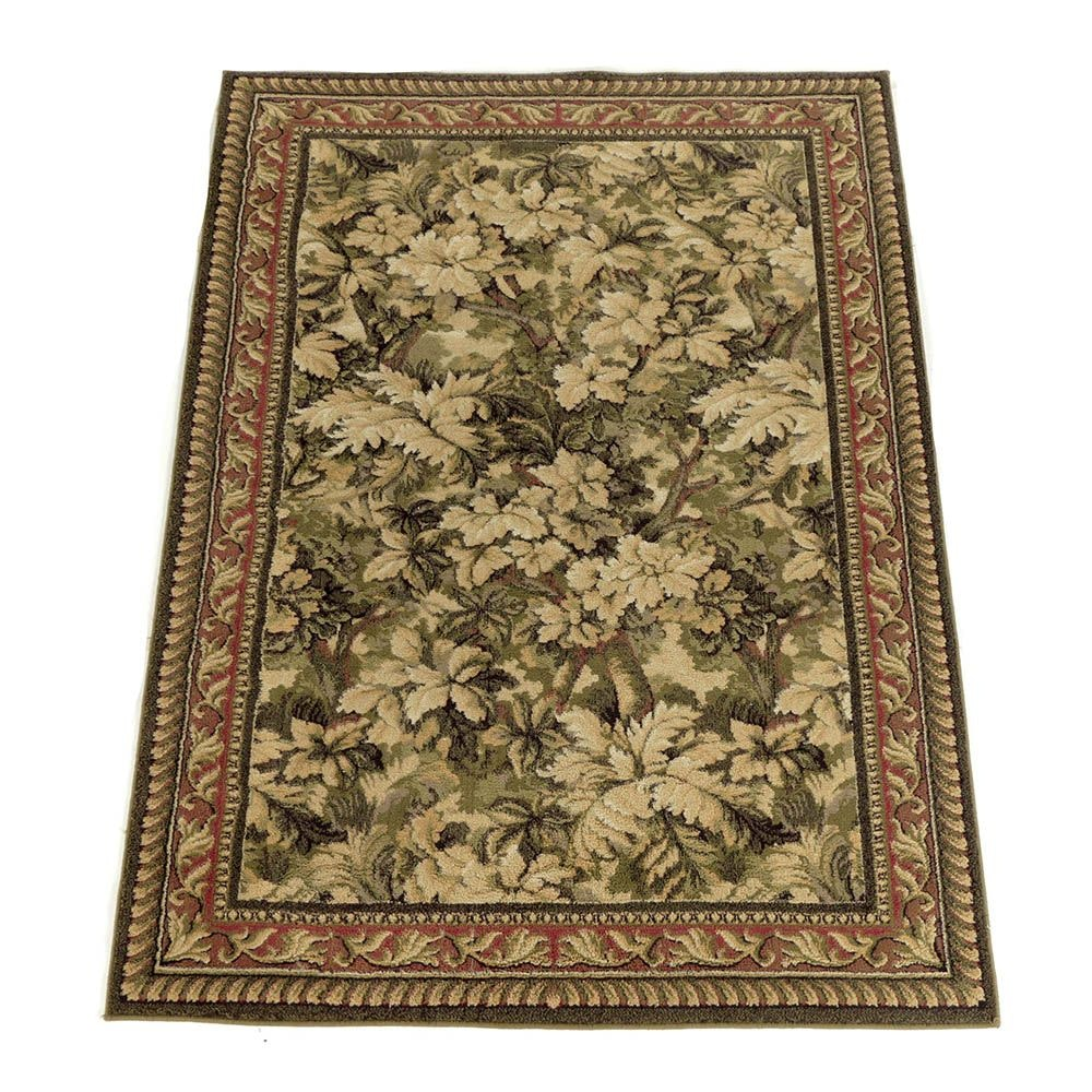 Power-Loomed Forest-Pattern Area Rug