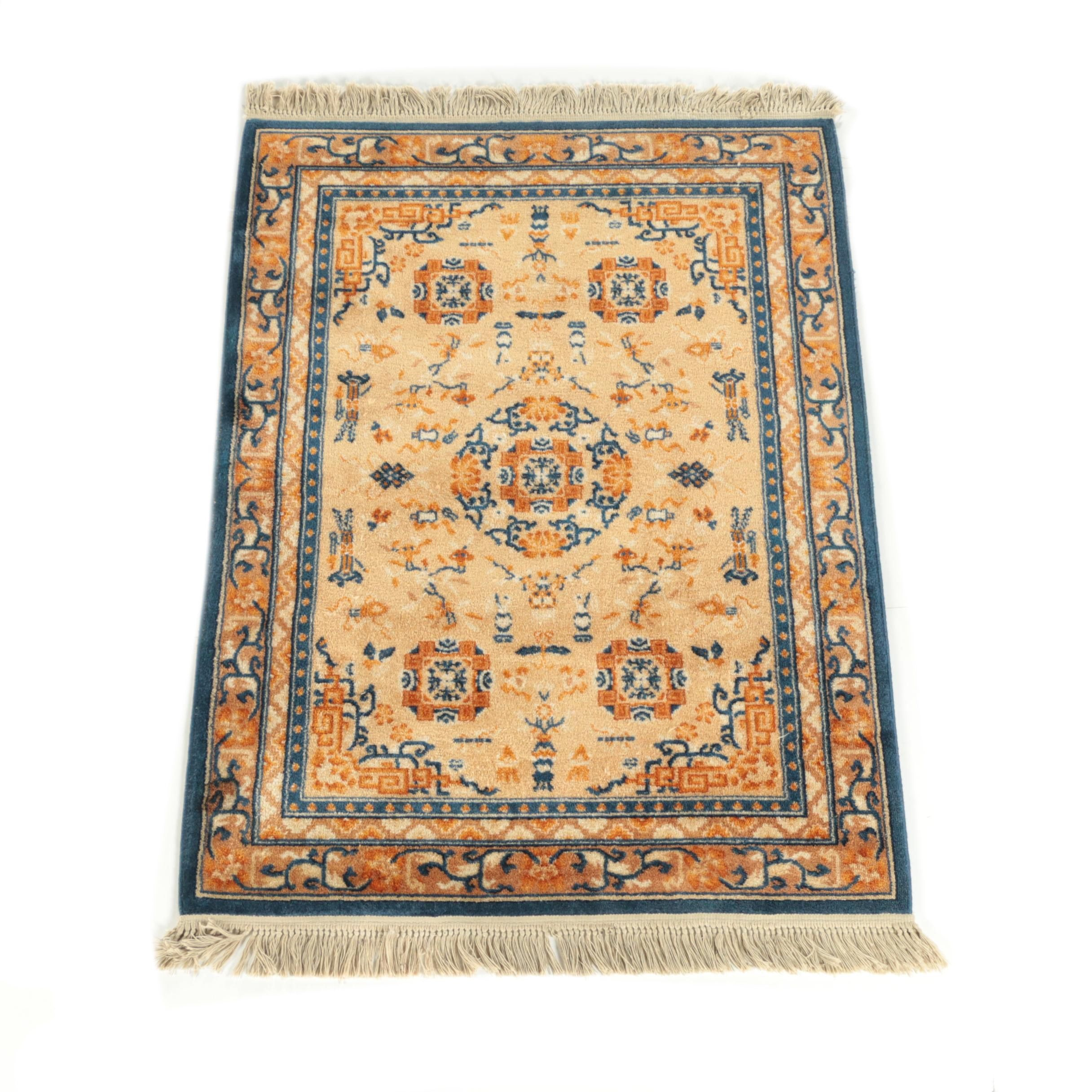 "Power-Loomed ""Old Peking"" Wool Area Rug"