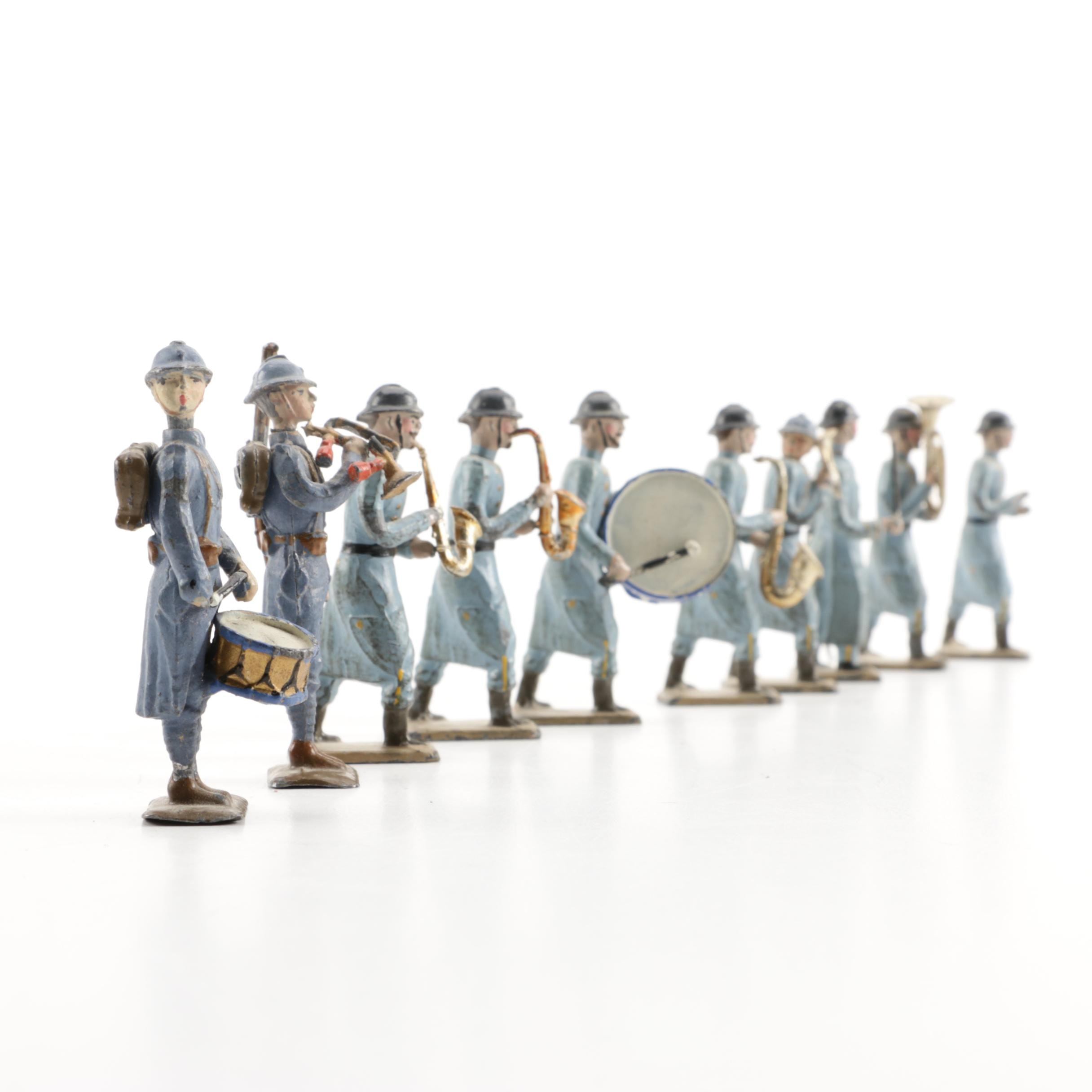 Metal Figurines of Military Musicians