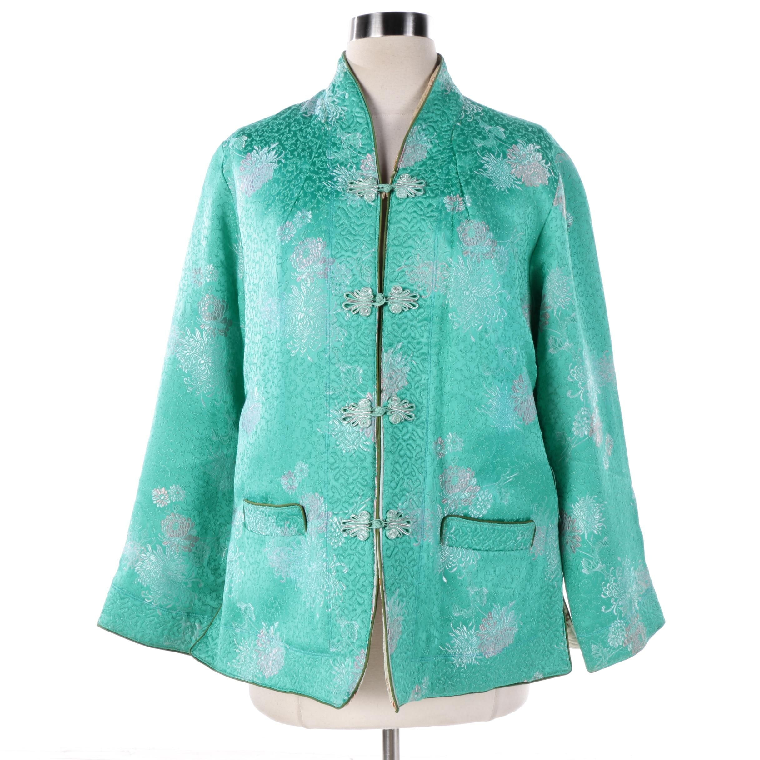 Women's Chinese Inspired Reversible Brocade Silk Jacket