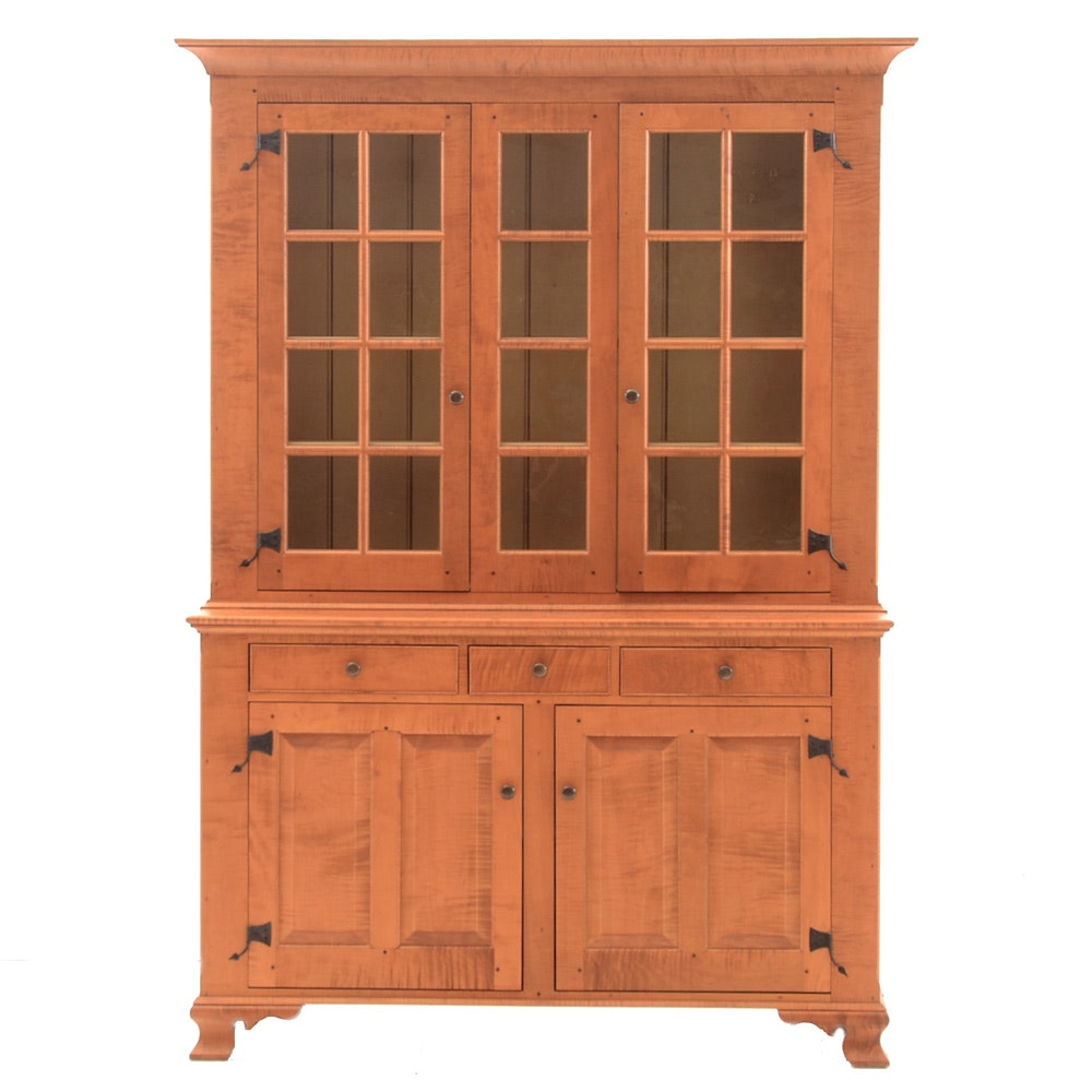 David T. Smith Curly Maple Cupboard
