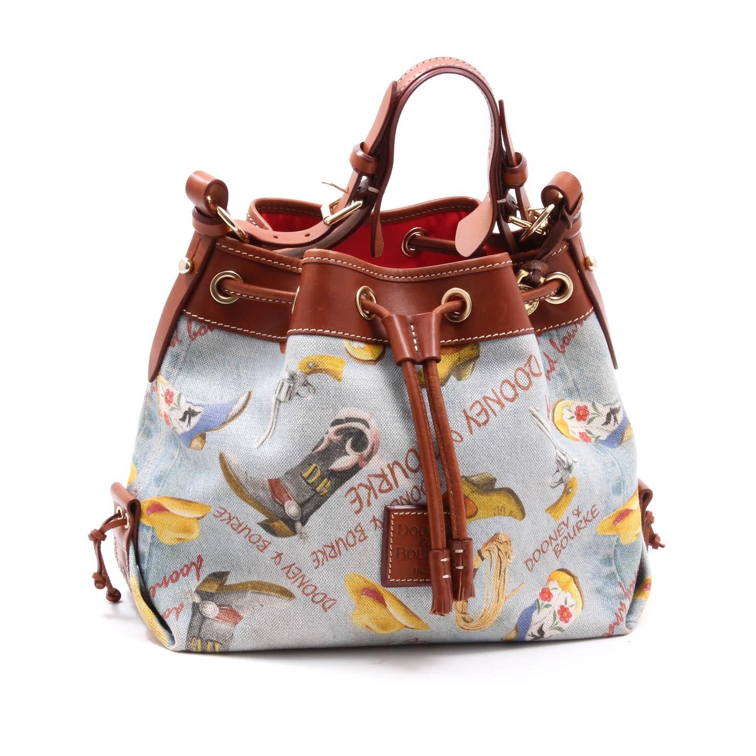 Dooney & Bourke Texas Signature Drawstring Handbag