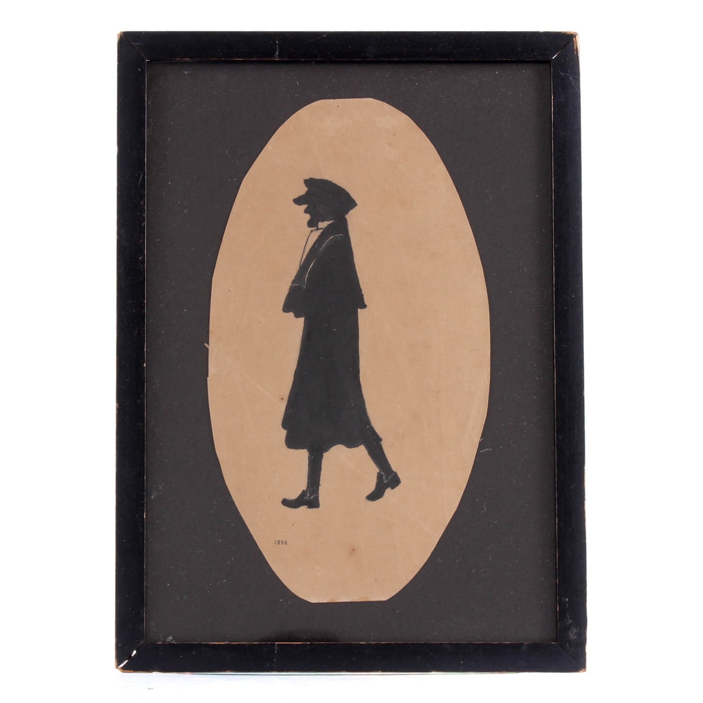 Antique Framed Silhouette Ink Drawing