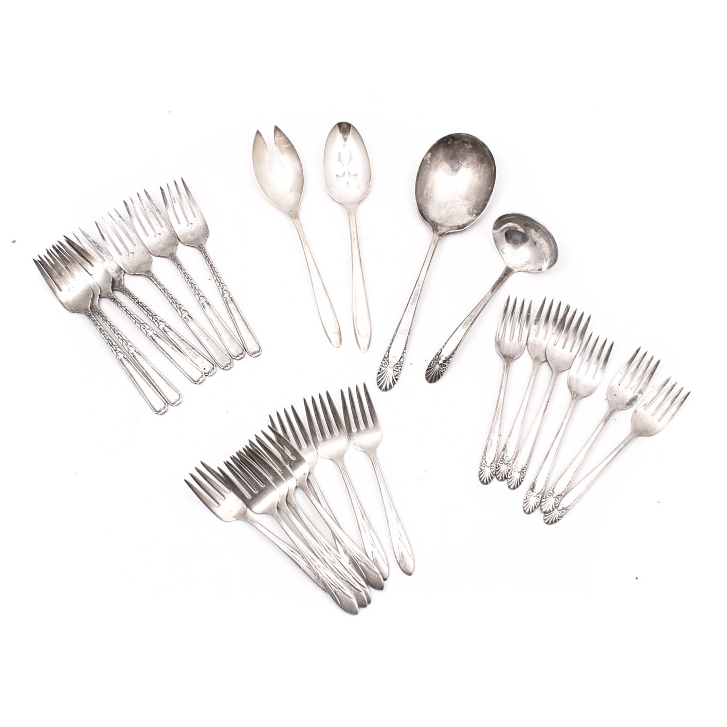 """Silver Plate Flatware Featuring """"First Lady"""" by Meriden"""