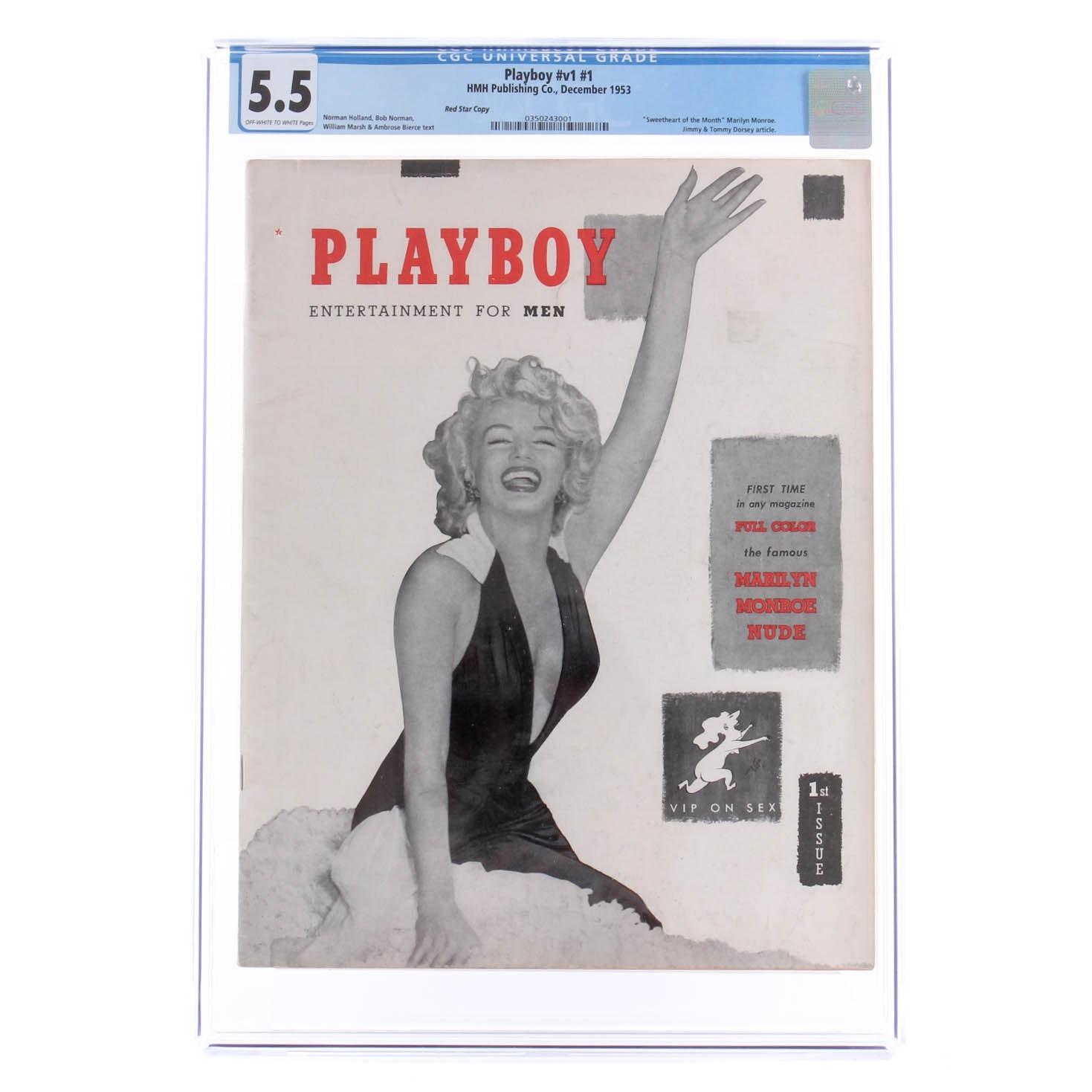 Rare 1953 Red Star Playboy V1 #1 CGC 5.5 Graded Magazine