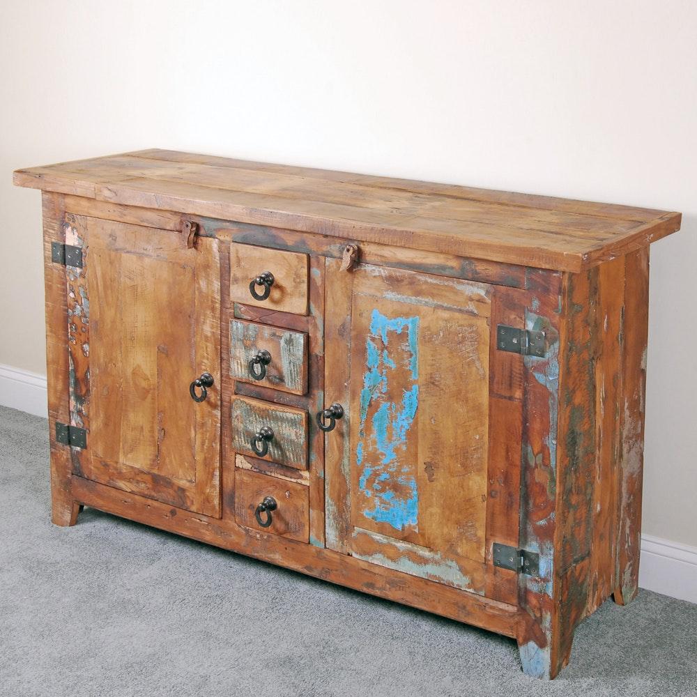Rustic Wooden Buffet