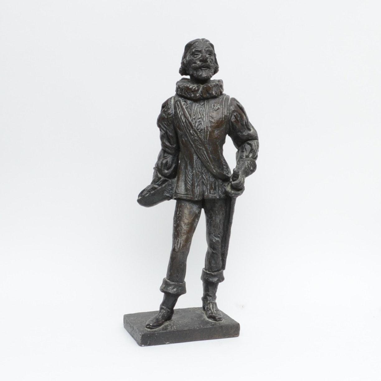 Plaster Cyrano de Bergerac Statue