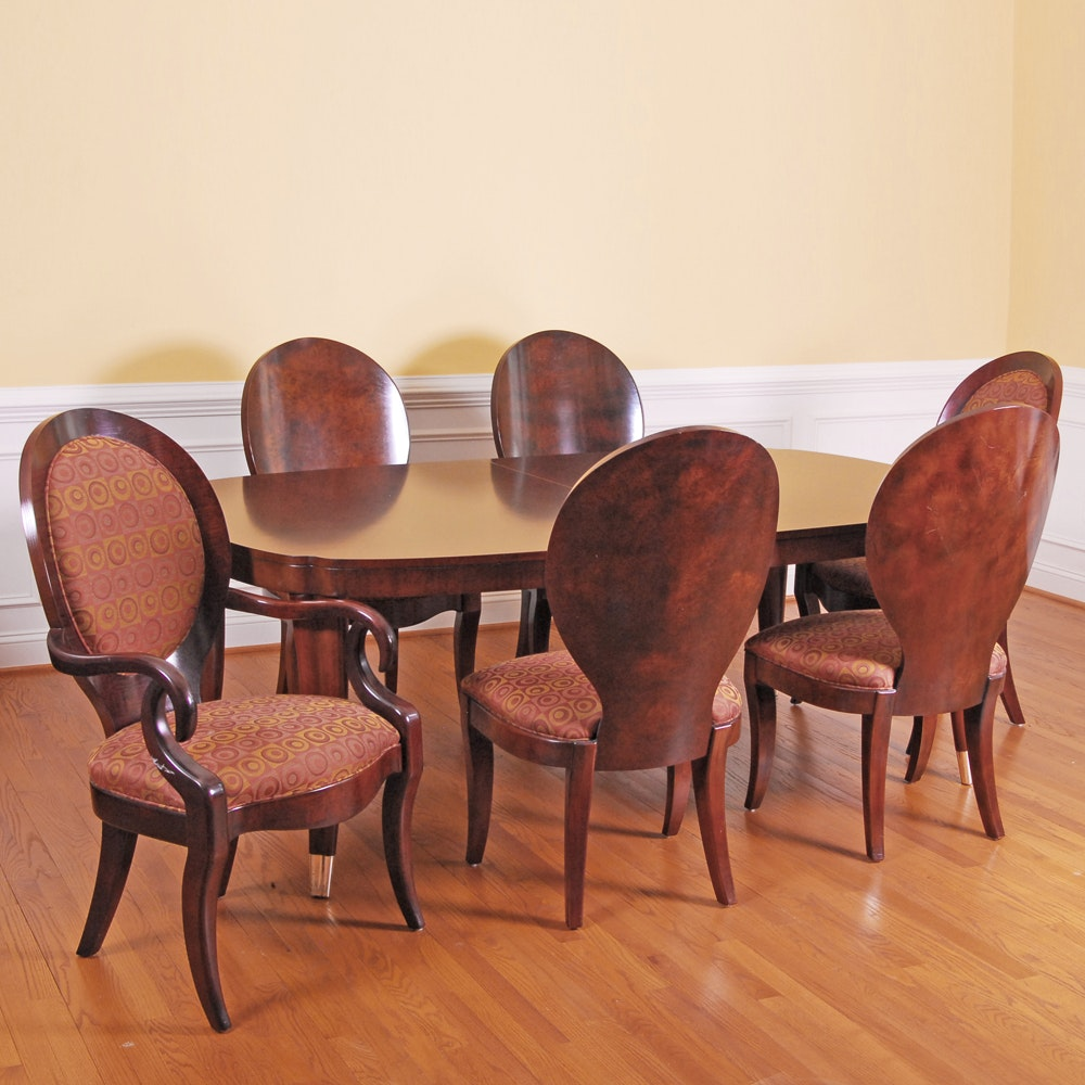 Henredon Mahogany Extension Dining Table and Chairs