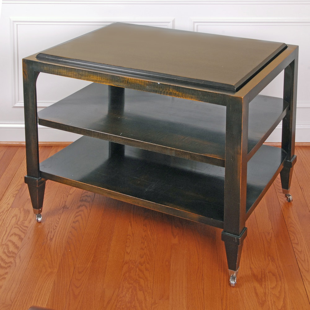 Three Tier Rolling Side Table
