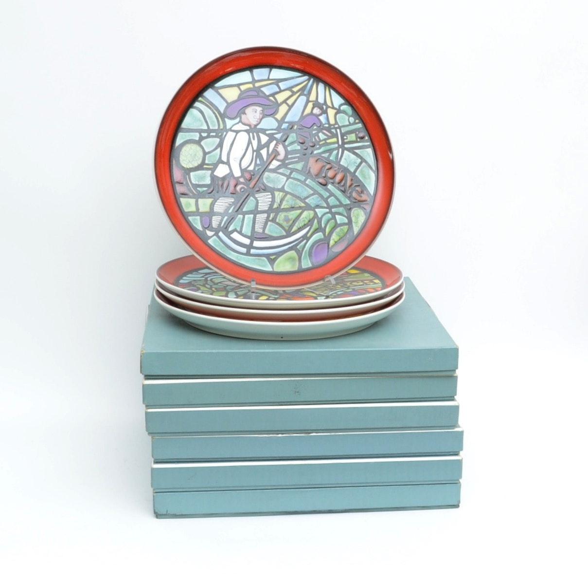 Poole Pottery Medieval Calendar Plates