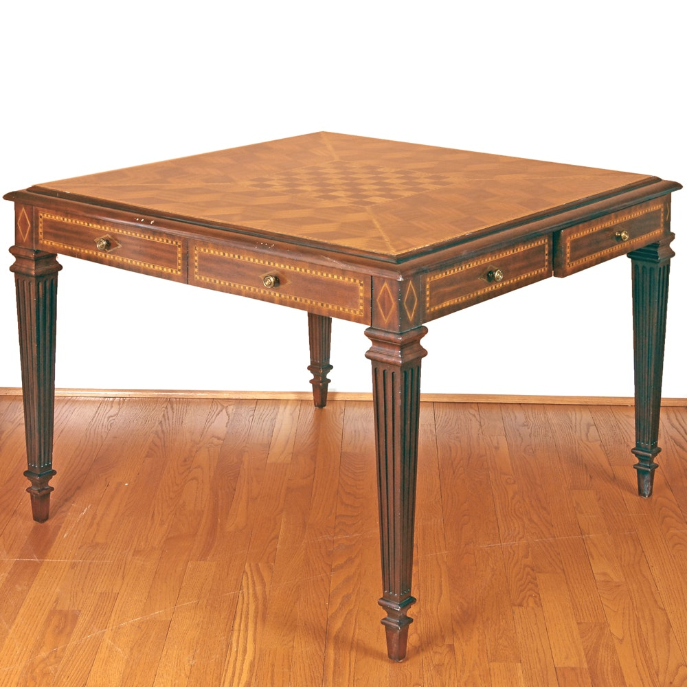 Maitland-Smith Inlaid Game Table