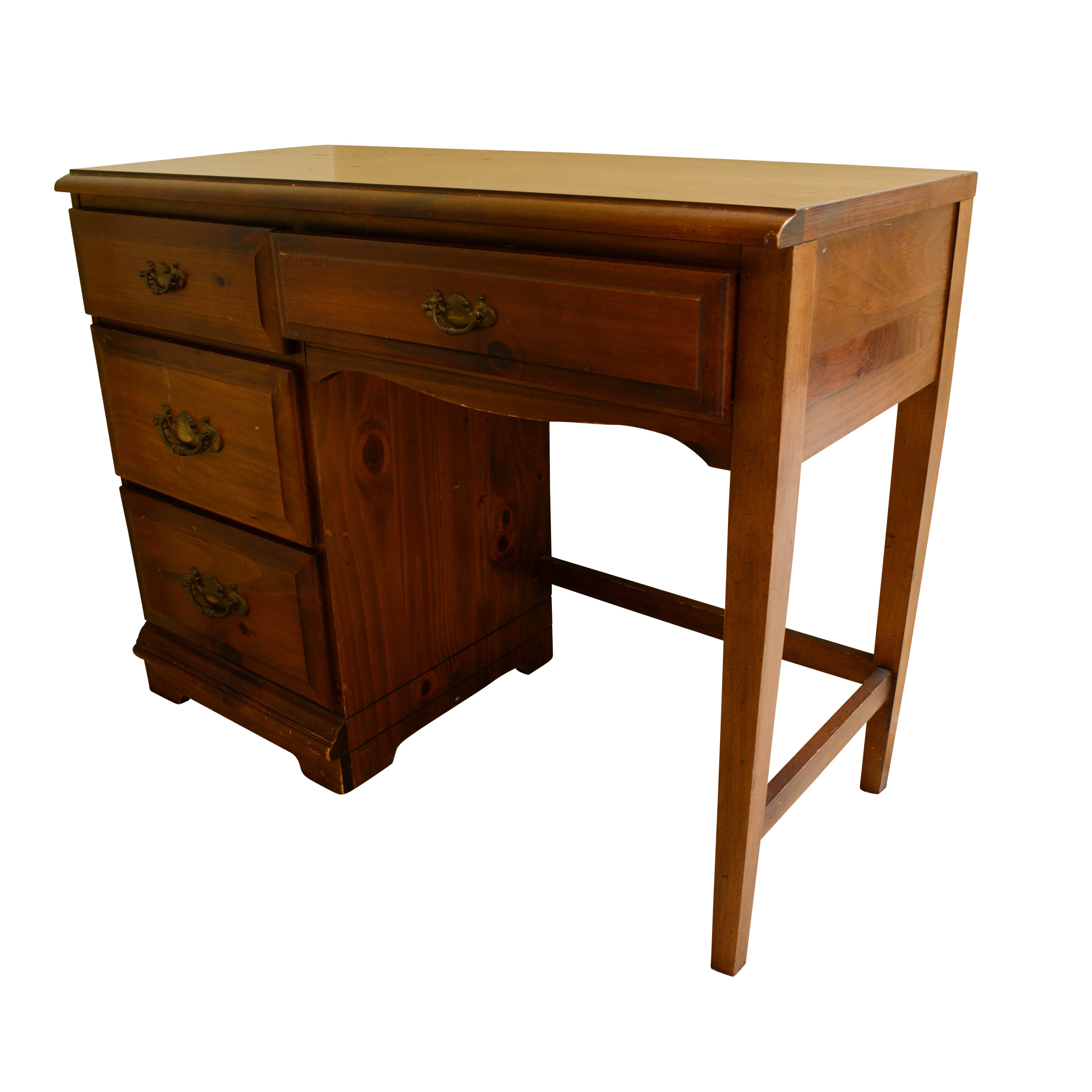 Vintage Colonial Style Walnut Student Desk