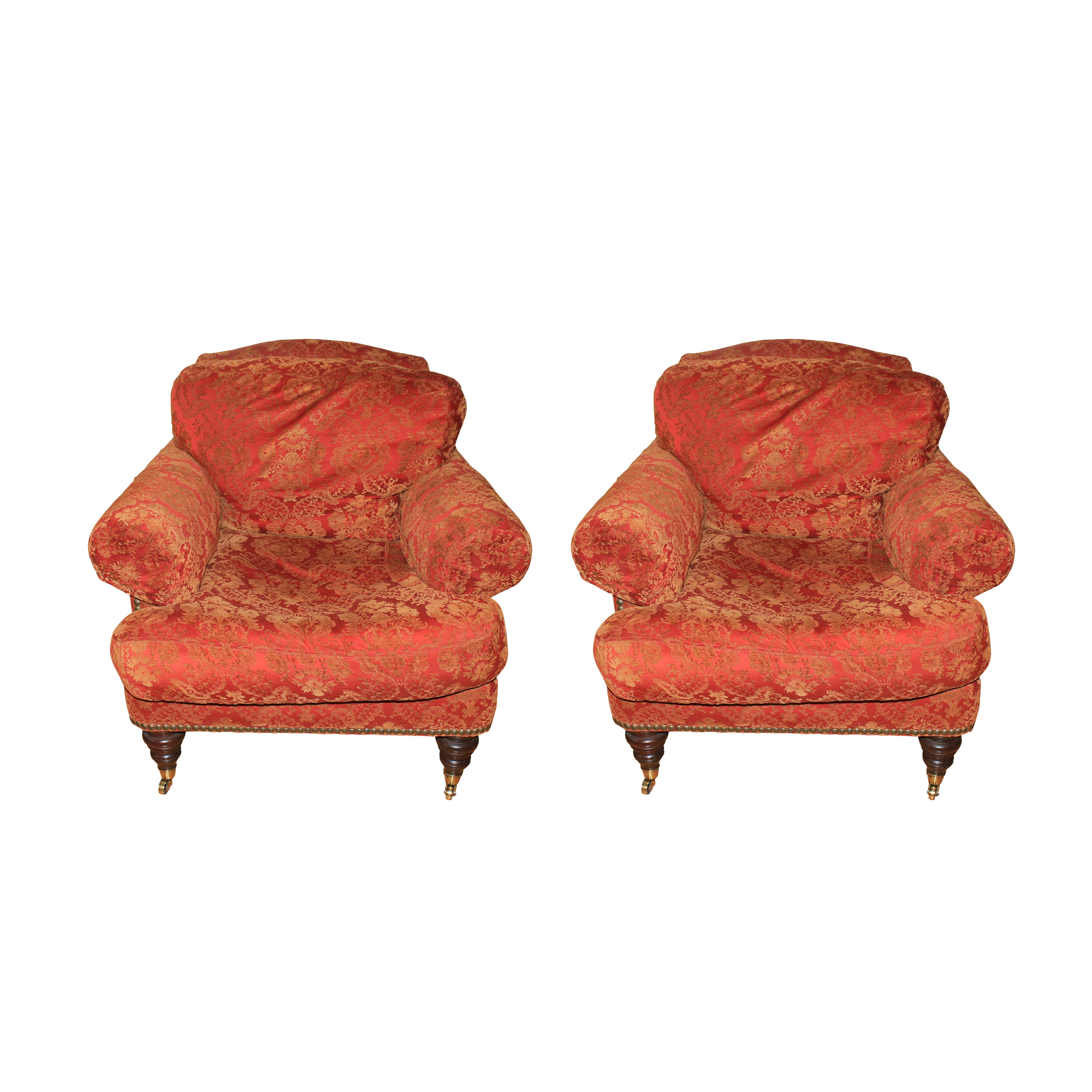 Pair of Upholstered Armchairs by Lillian August