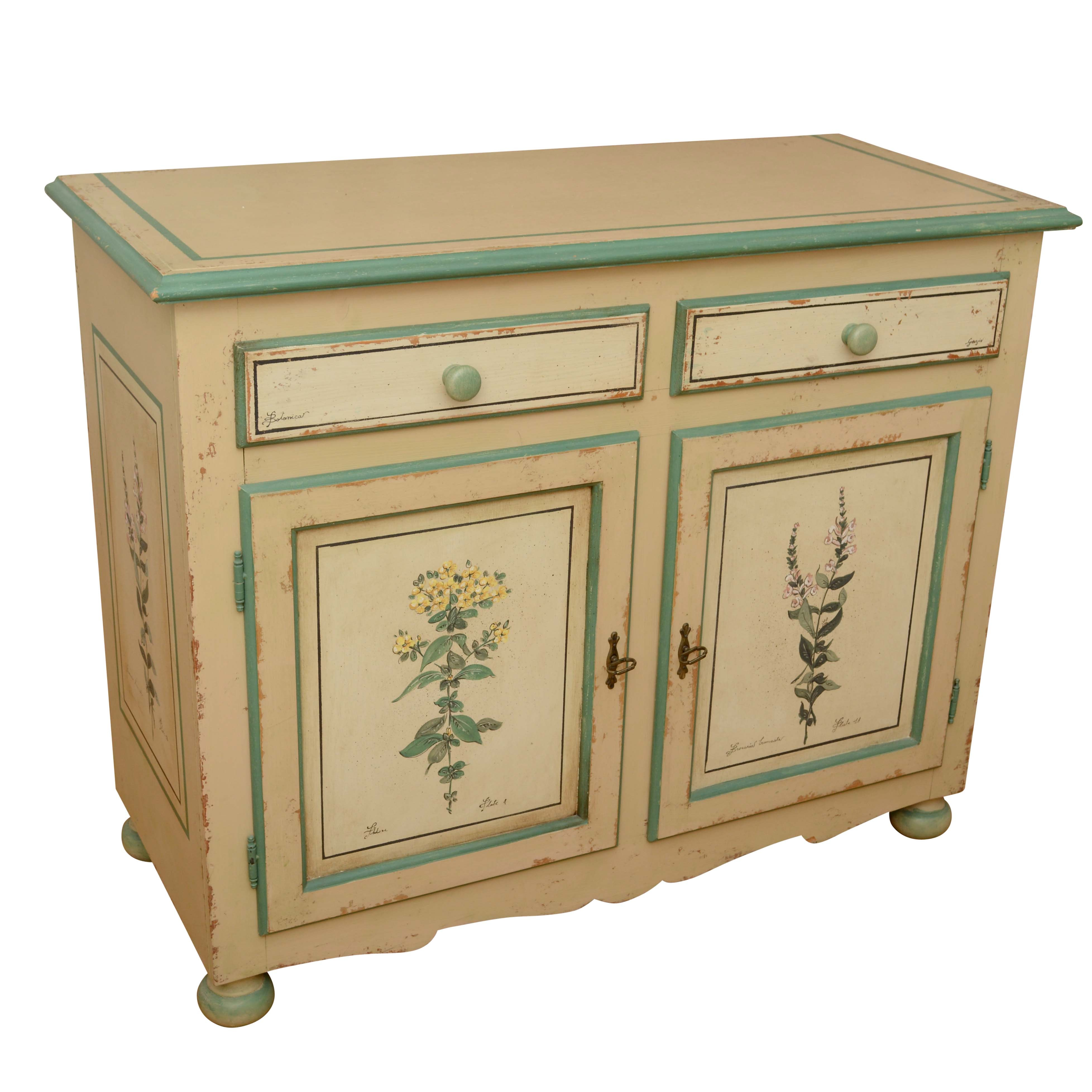 """Botanica"" Painted Cabinet"