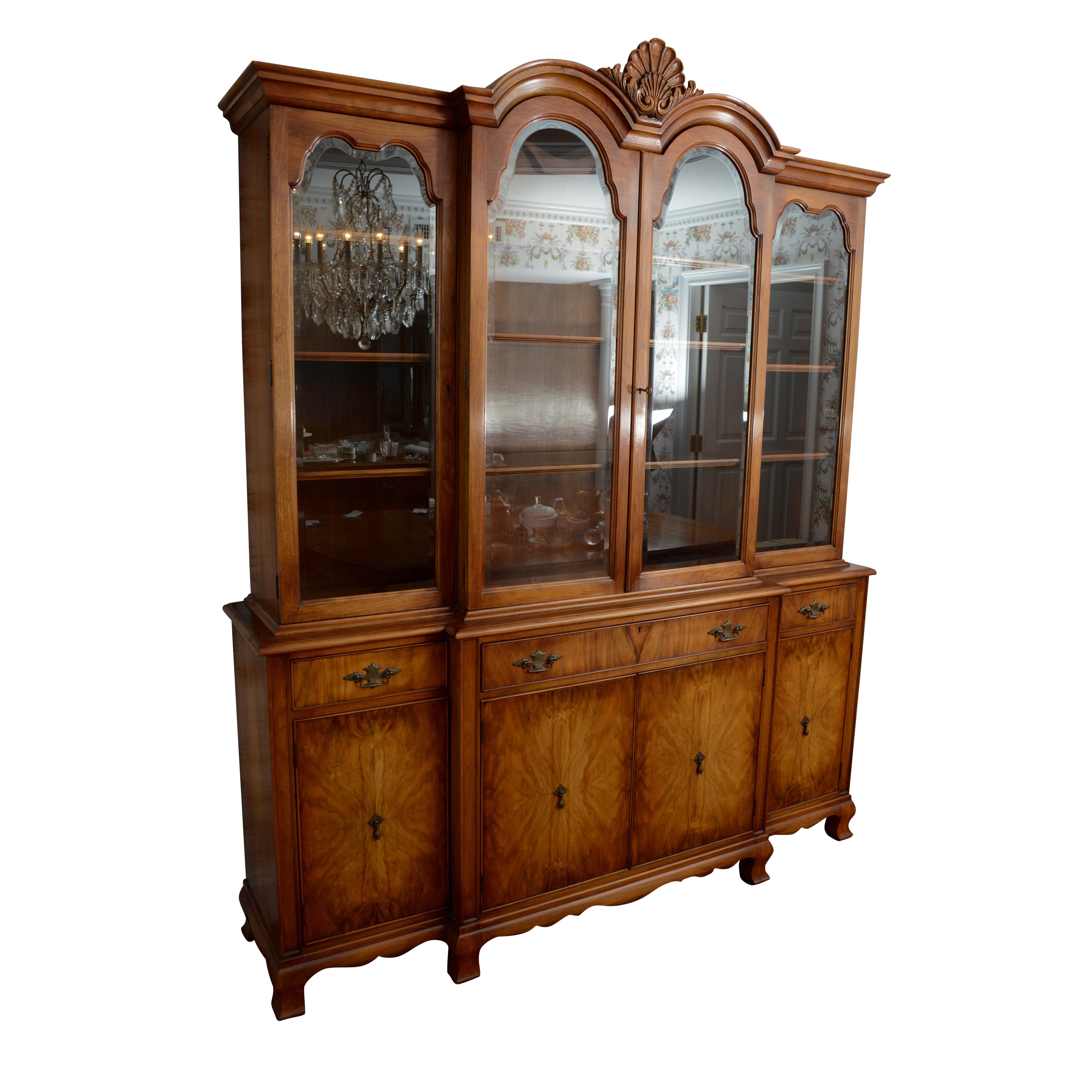 Breakfront China Cabinet by Mario A. Genovese Custom Furniture Co.