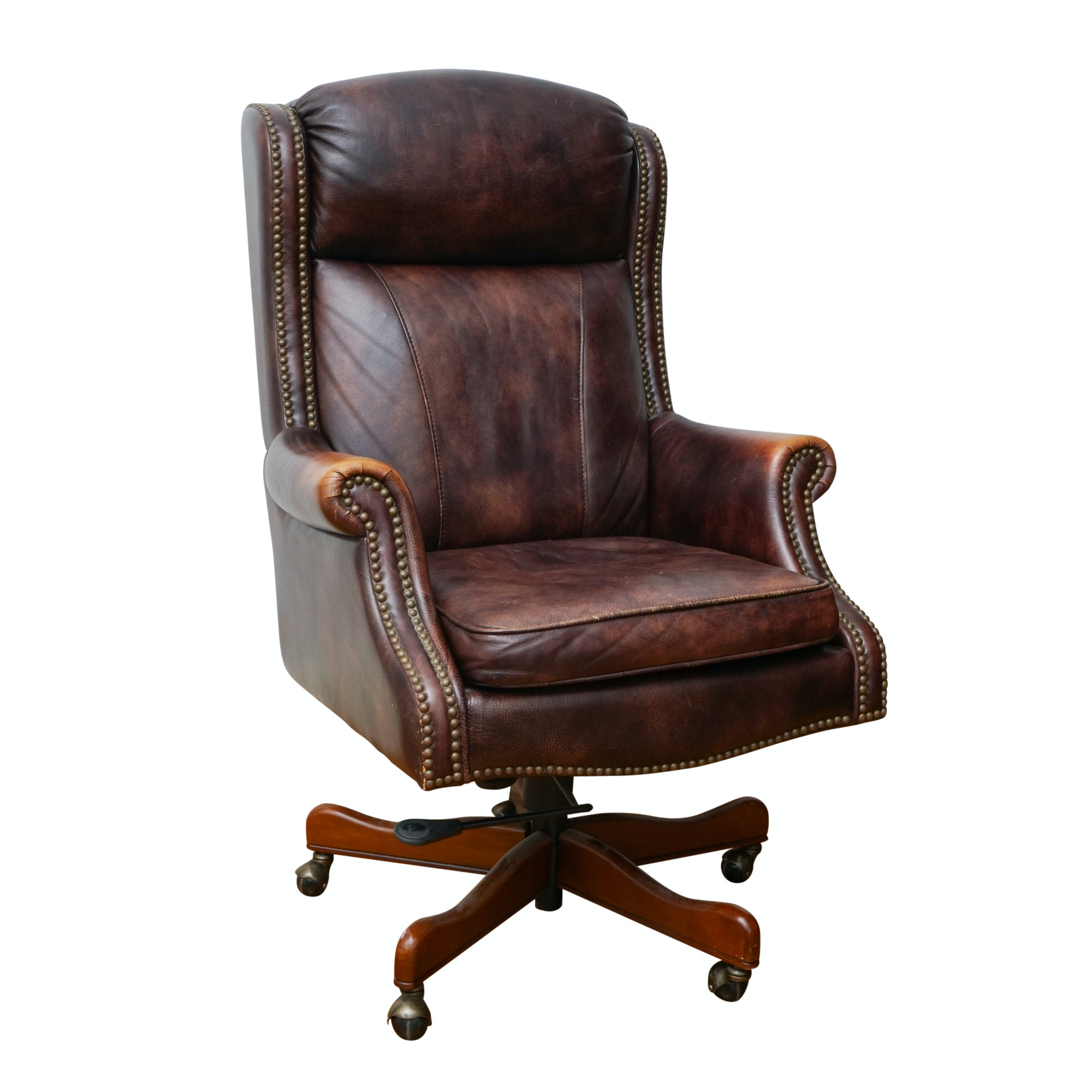 Brown Leather Executive Office Chair by Seven Seas Seating