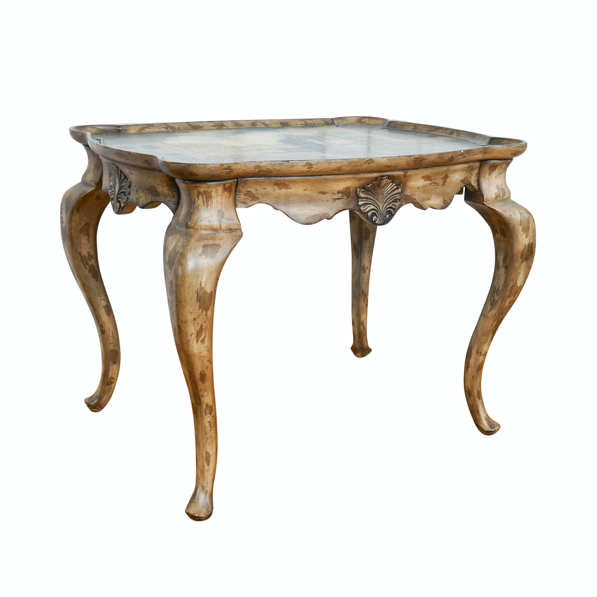Vintage French Provincial Style Painted Accent Table