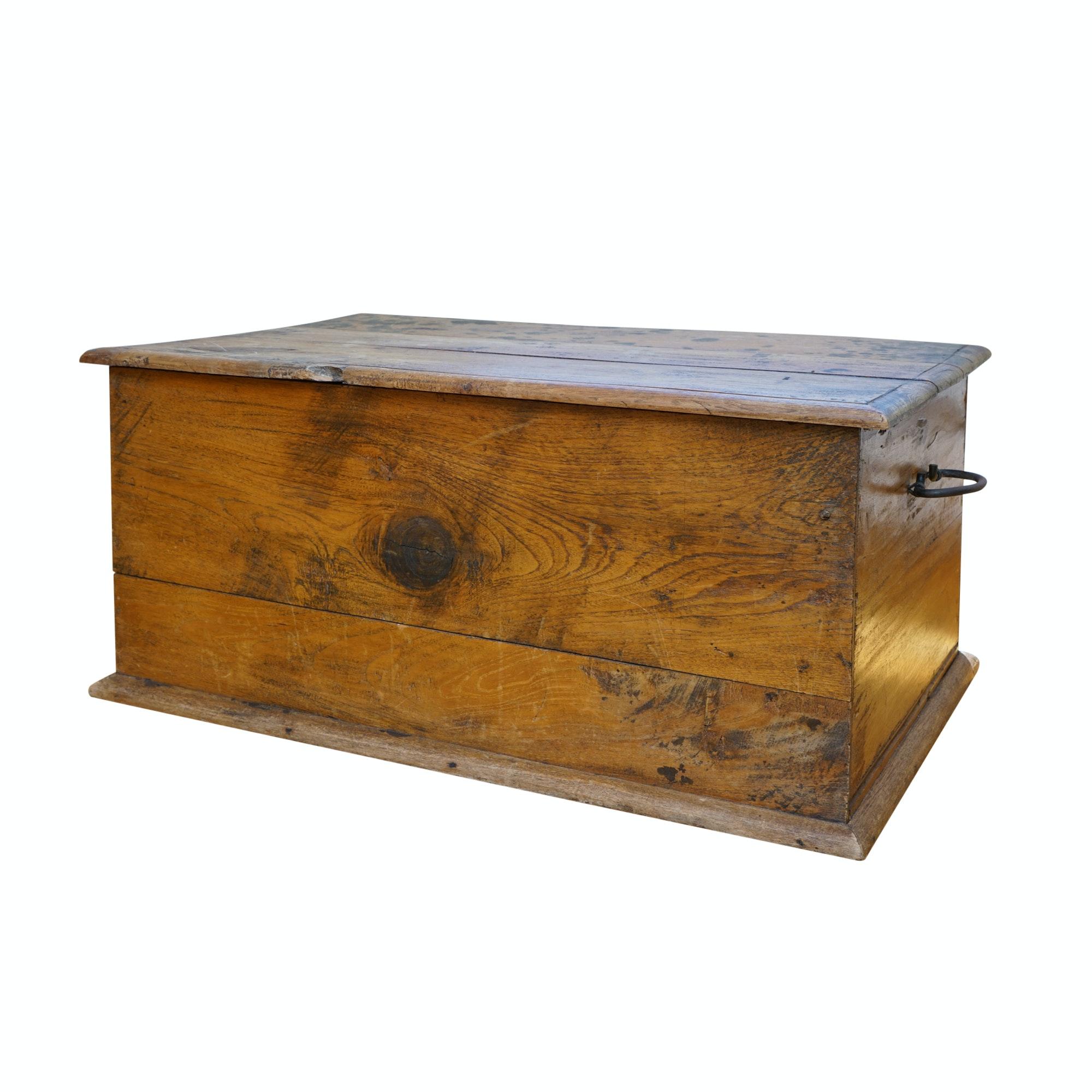 Slat Wood Handled Box