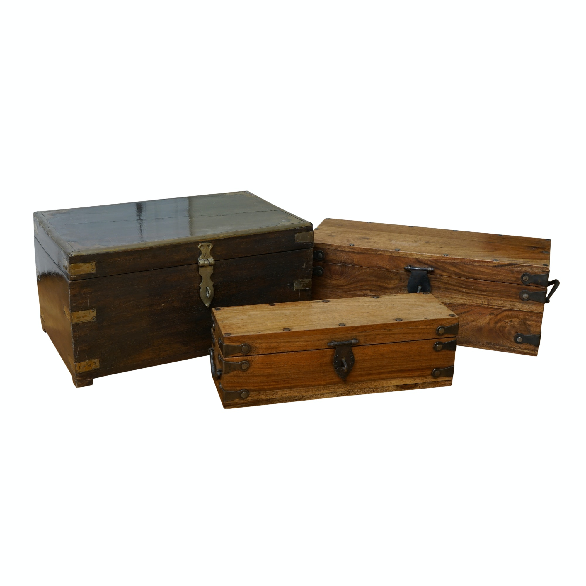 Wooden Boxes with Metal Clasps