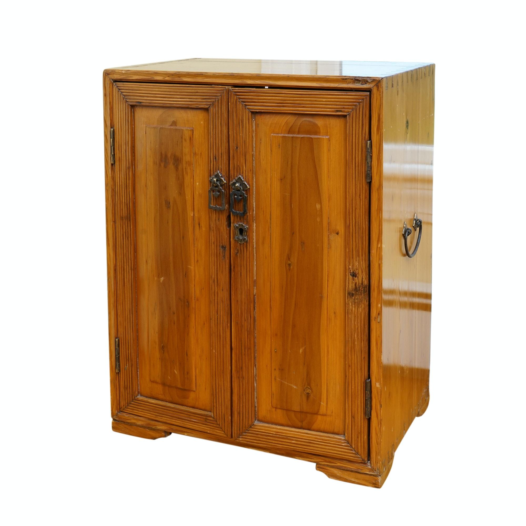 Antique Pine Side Cabinet