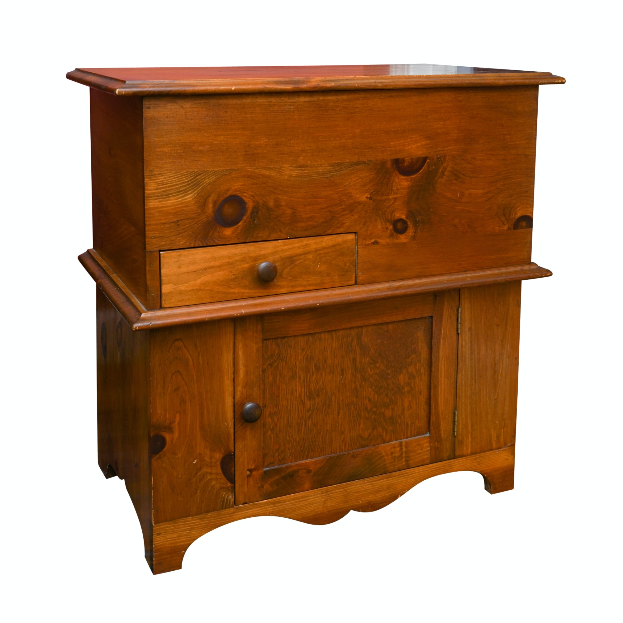 American Southern Pine Dry Sink