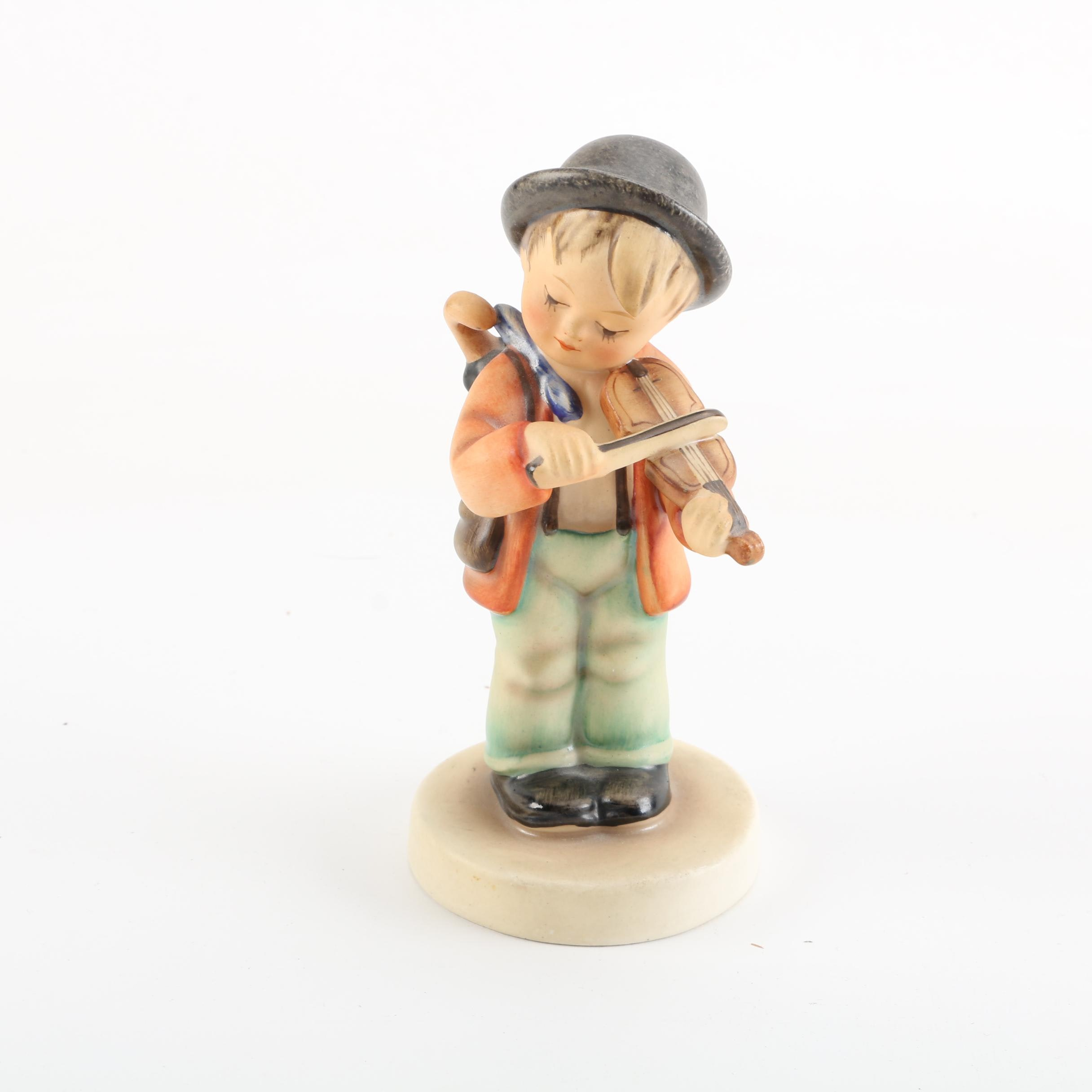 "Goebel Hummel TMK-2 ""Little Fiddler"" Porcelain Figurine"