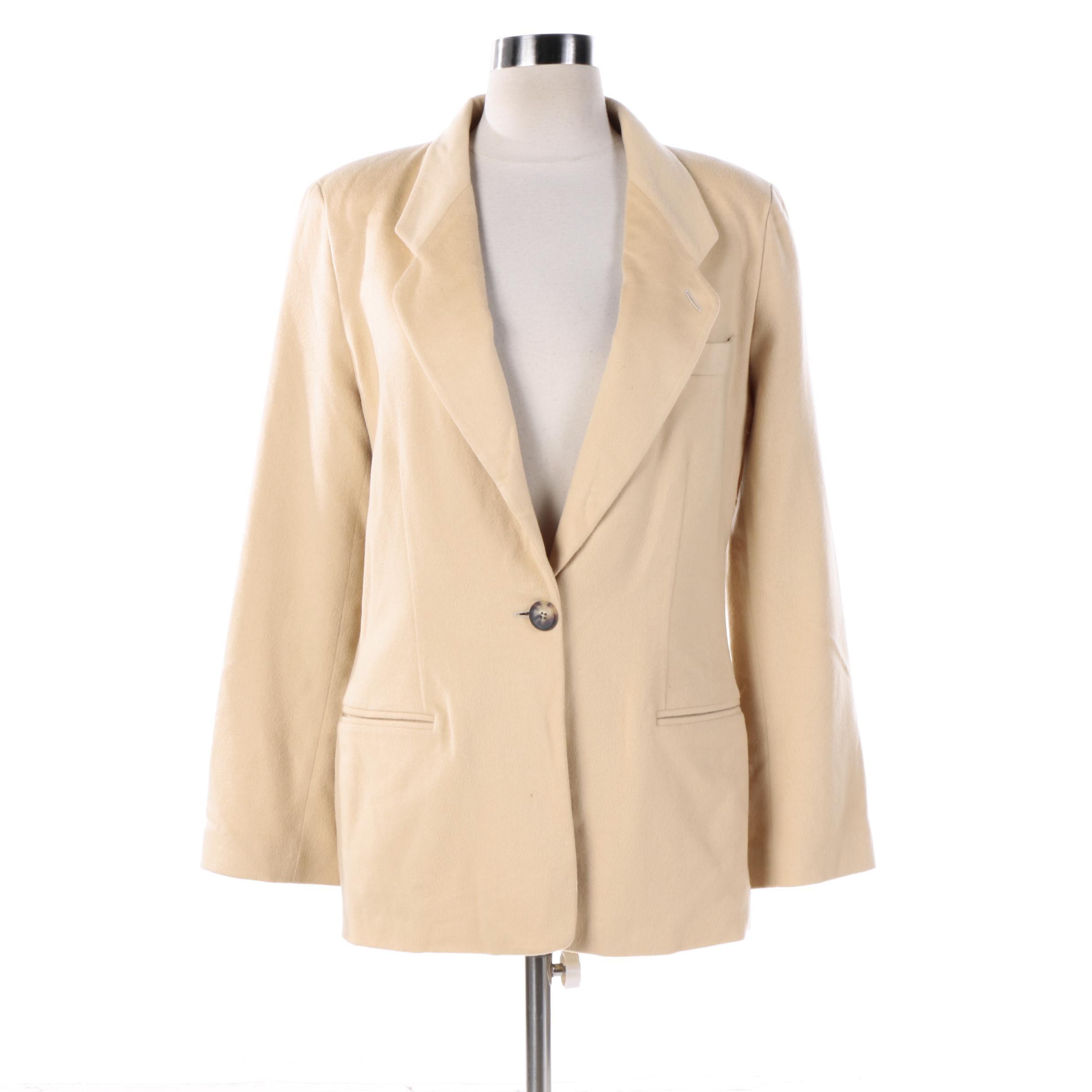 Women's Giorgio Armani Cream Cashmere Jacket